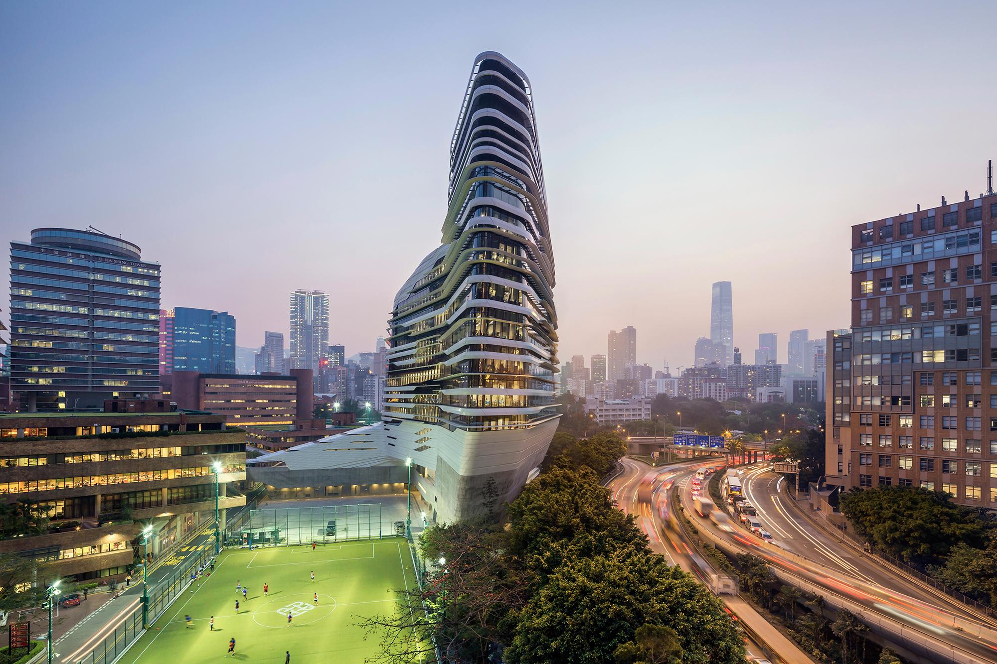 Jockey Club Innovation Tower, at Hong Kong Polytechnic University in Hong Kong.