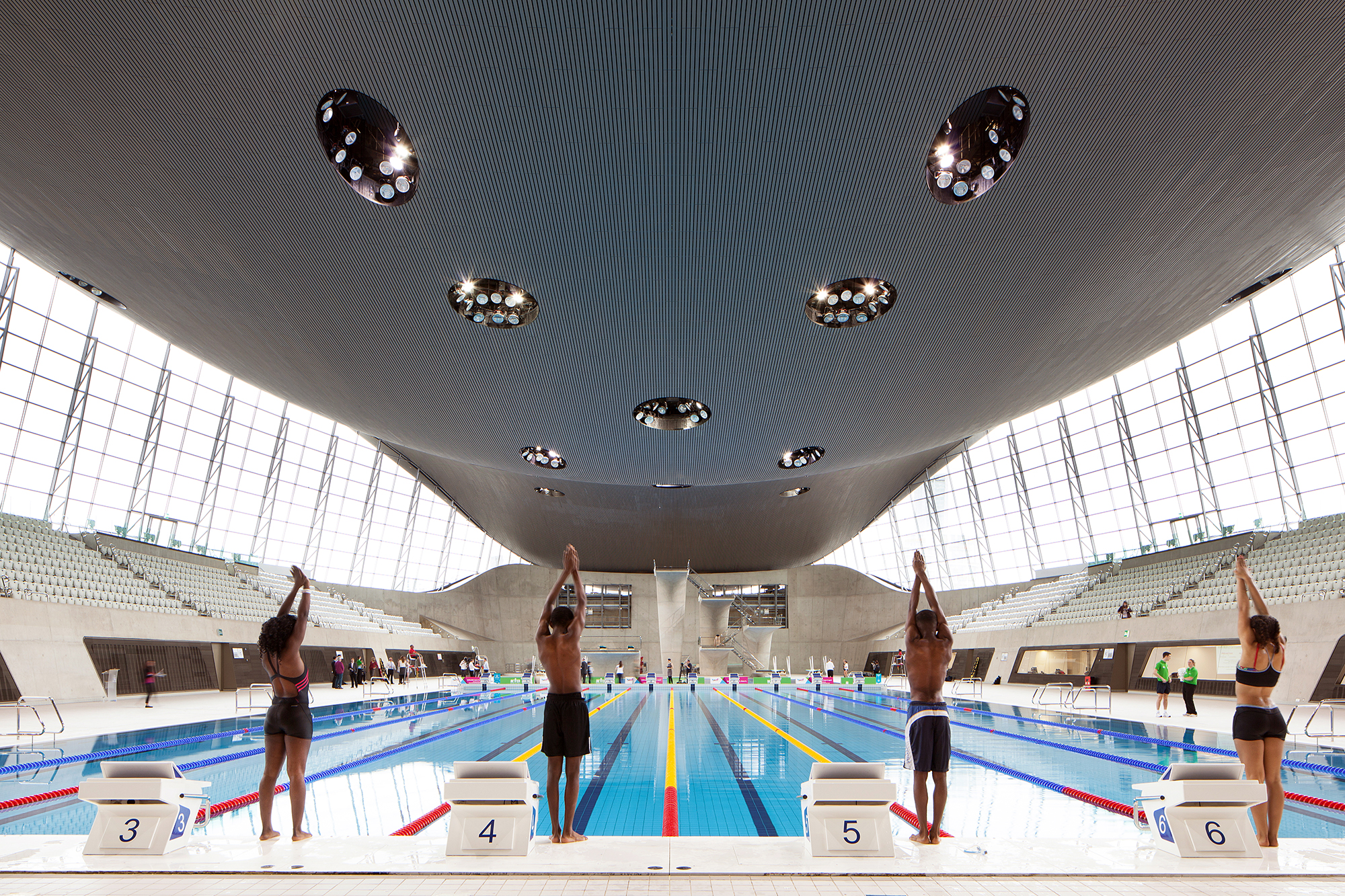 London Aquatics Centre in London.