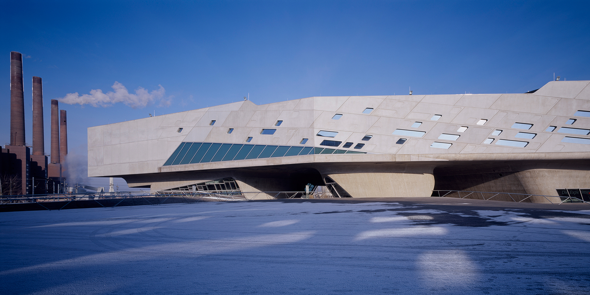 The Phæno Science Center in Wolfsburg, Germany.
