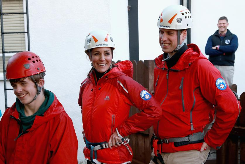 Britain's Prince William and Princess Kate, the Duke and Duchess of Cambridge, tour the Towers Residential Outdoor Education Centre in Capel Curig during a royal visit to North Wales on Nov. 20, 2015.