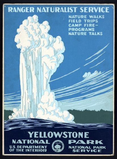 WPA National Parks poster from the Library of Congress.
