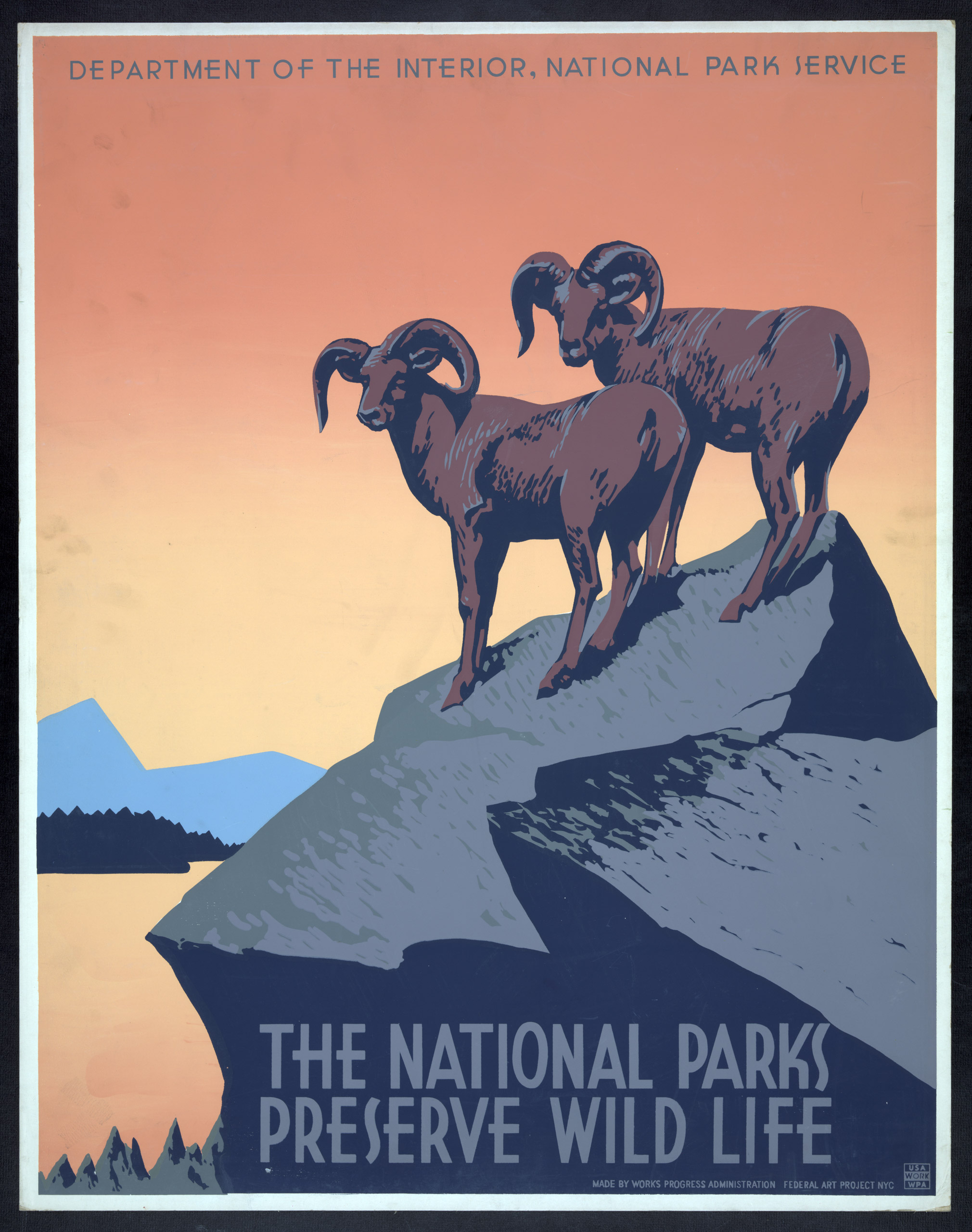 The national parks preserve wild life poster, ca. 1936-1939.