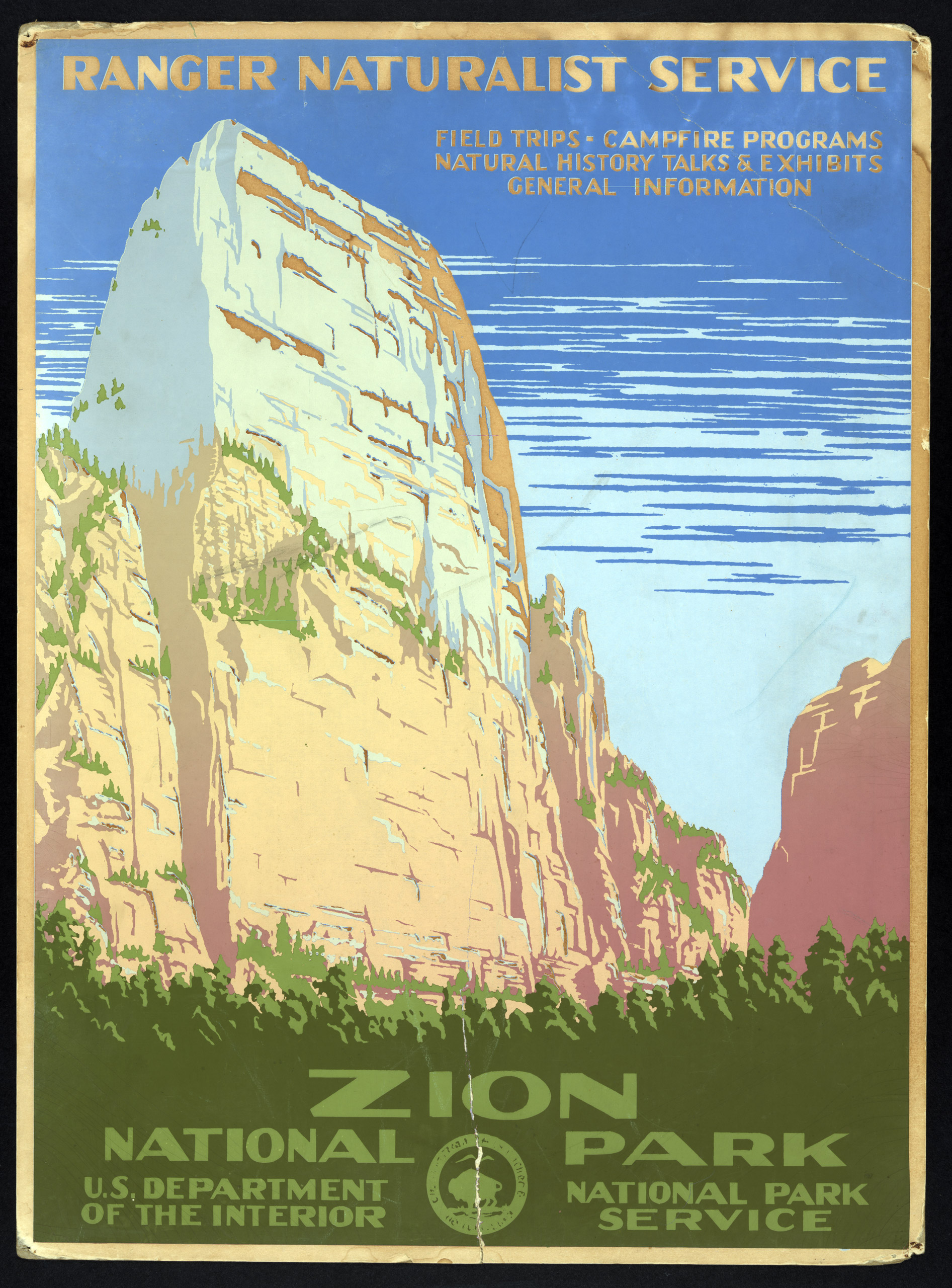 Zion National Park, Ranger Naturalist Service, ca. 1938.