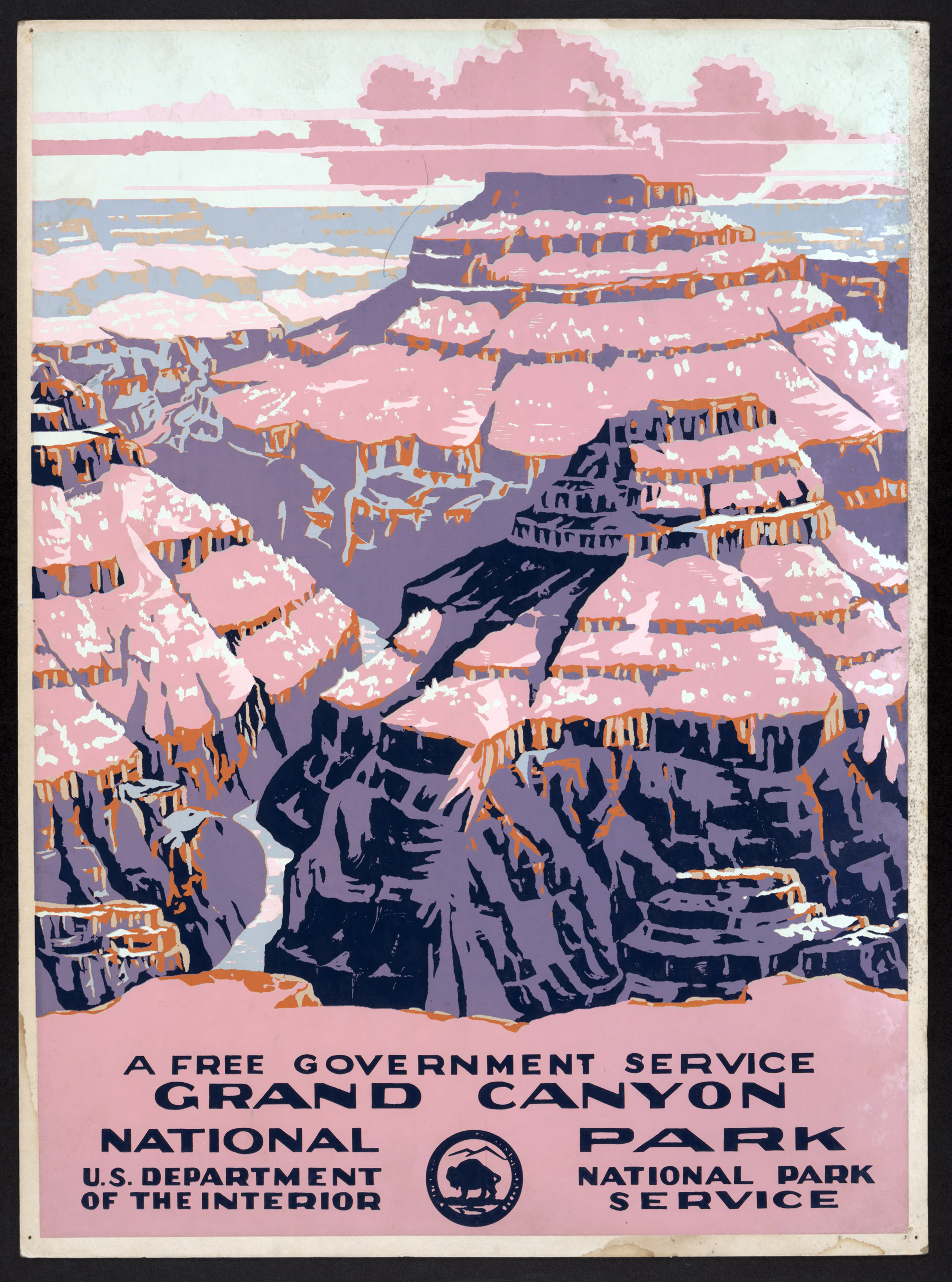 Grand Canyon National Park, a free government service, ca. 1938.