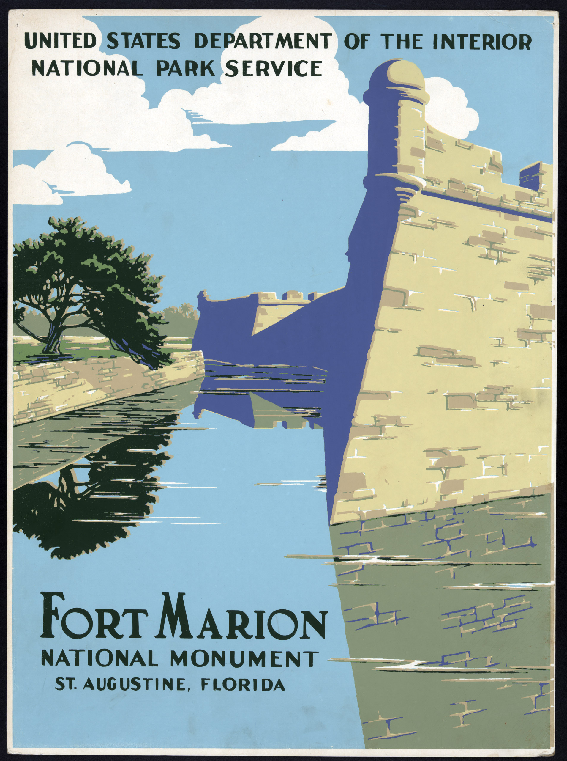 Fort Marion National Monument, St. Augustine, Florida, ca. 1938.