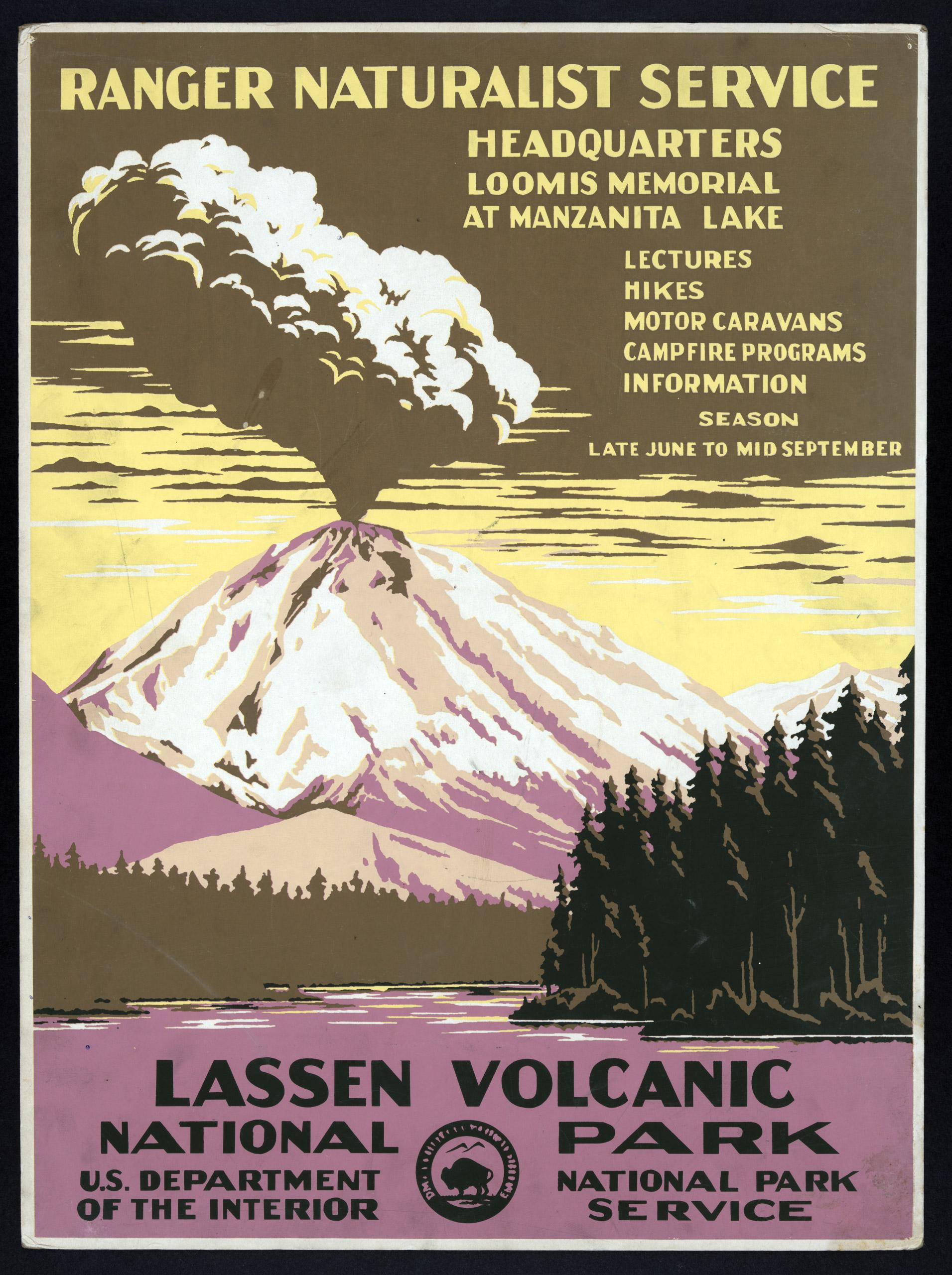 Lassen Volcanic National Park, Ranger Naturalist Service, ca. 1938.