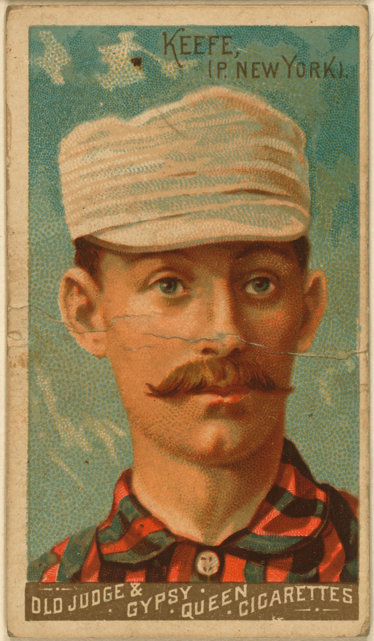 Tim Keefe, New York Giants, baseball card, 1888.