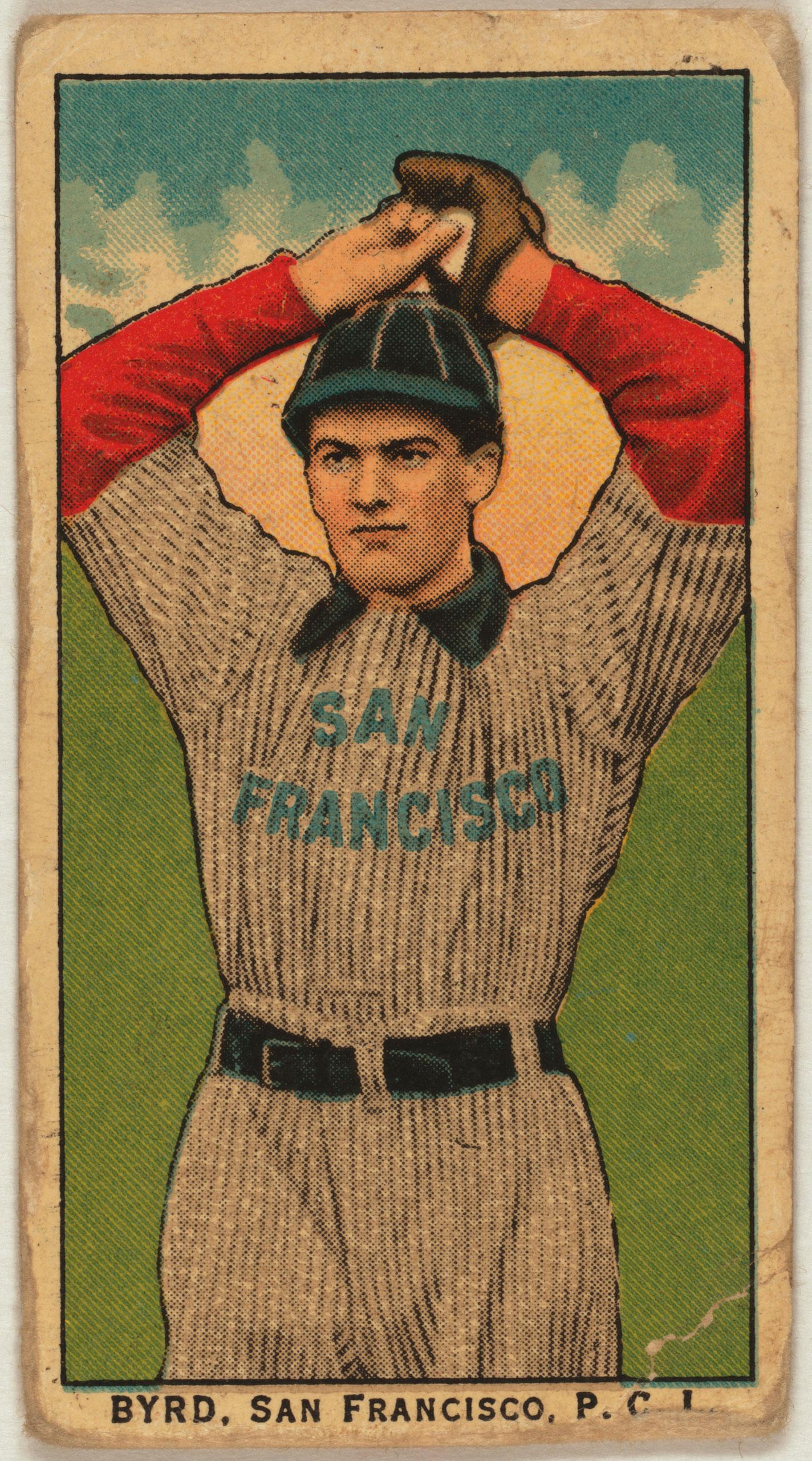 Byrd, San Francisco Team, baseball card, 1910.