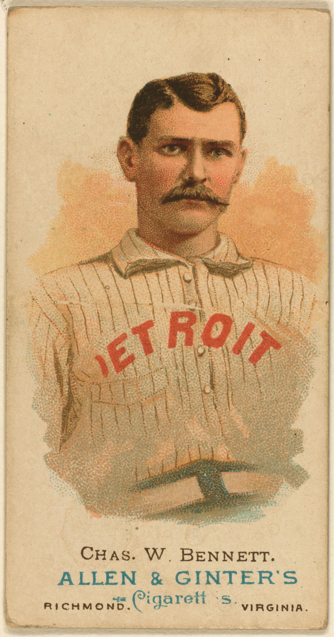 Chas. W. Bennett, Detroit Wolverines, baseball card, 1887.