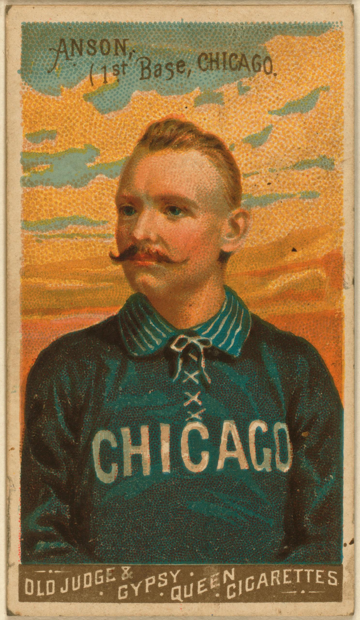 Cap Anson, Chicago White Stockings, baseball card, 1888.