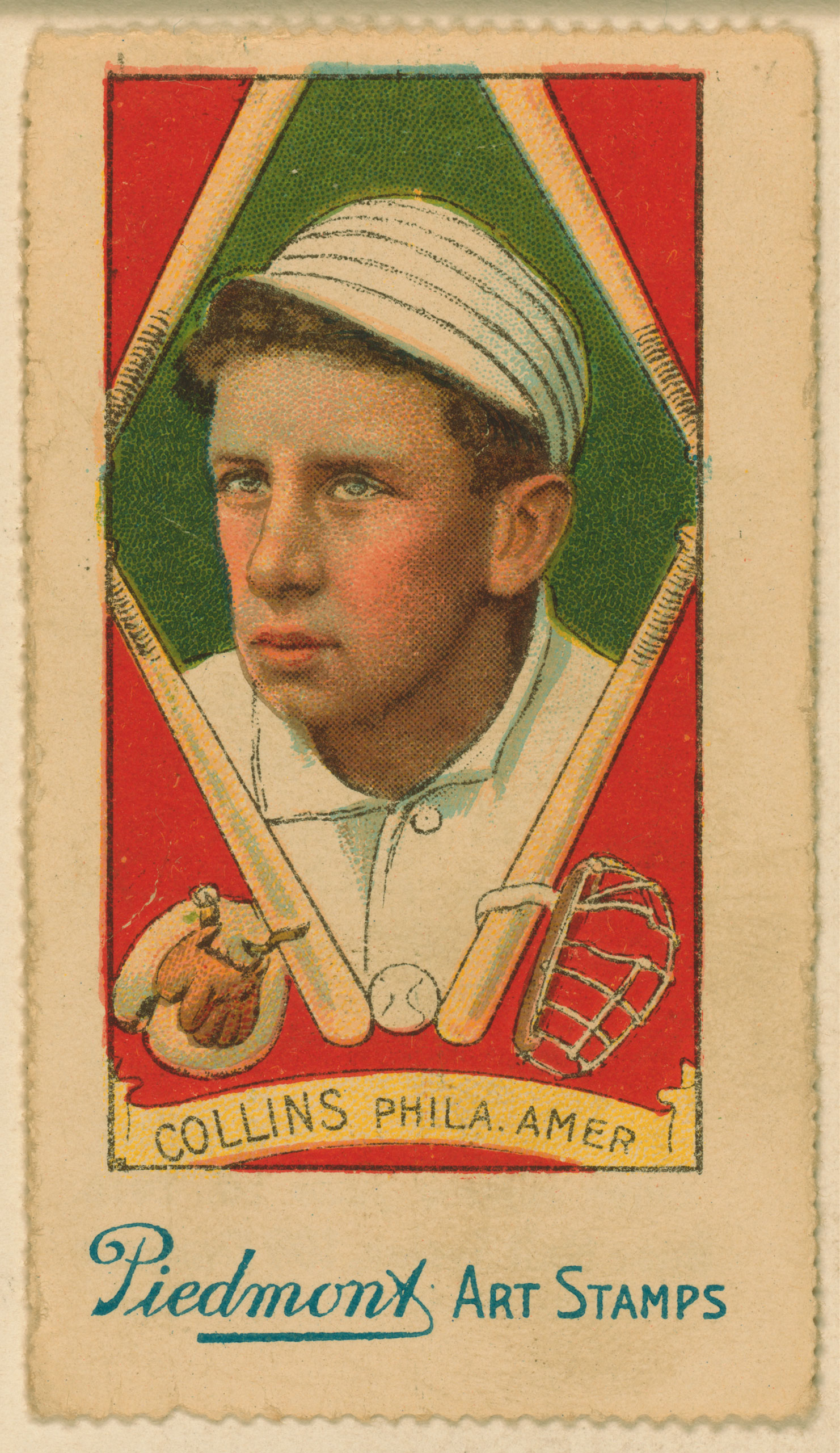 Eddie Collins, Philadelphia Athletics, baseball card, 1914.