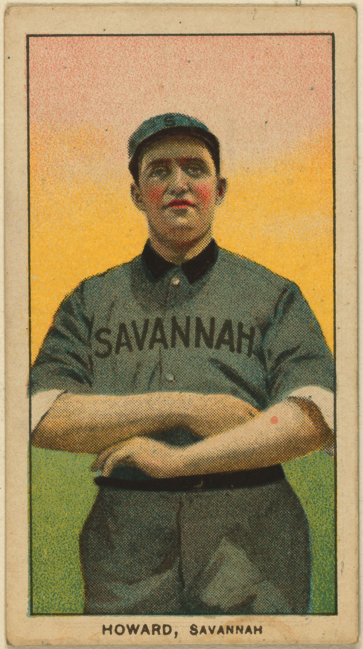 Ernie Howard, Savannah Team, baseball card, 1909-1911.
