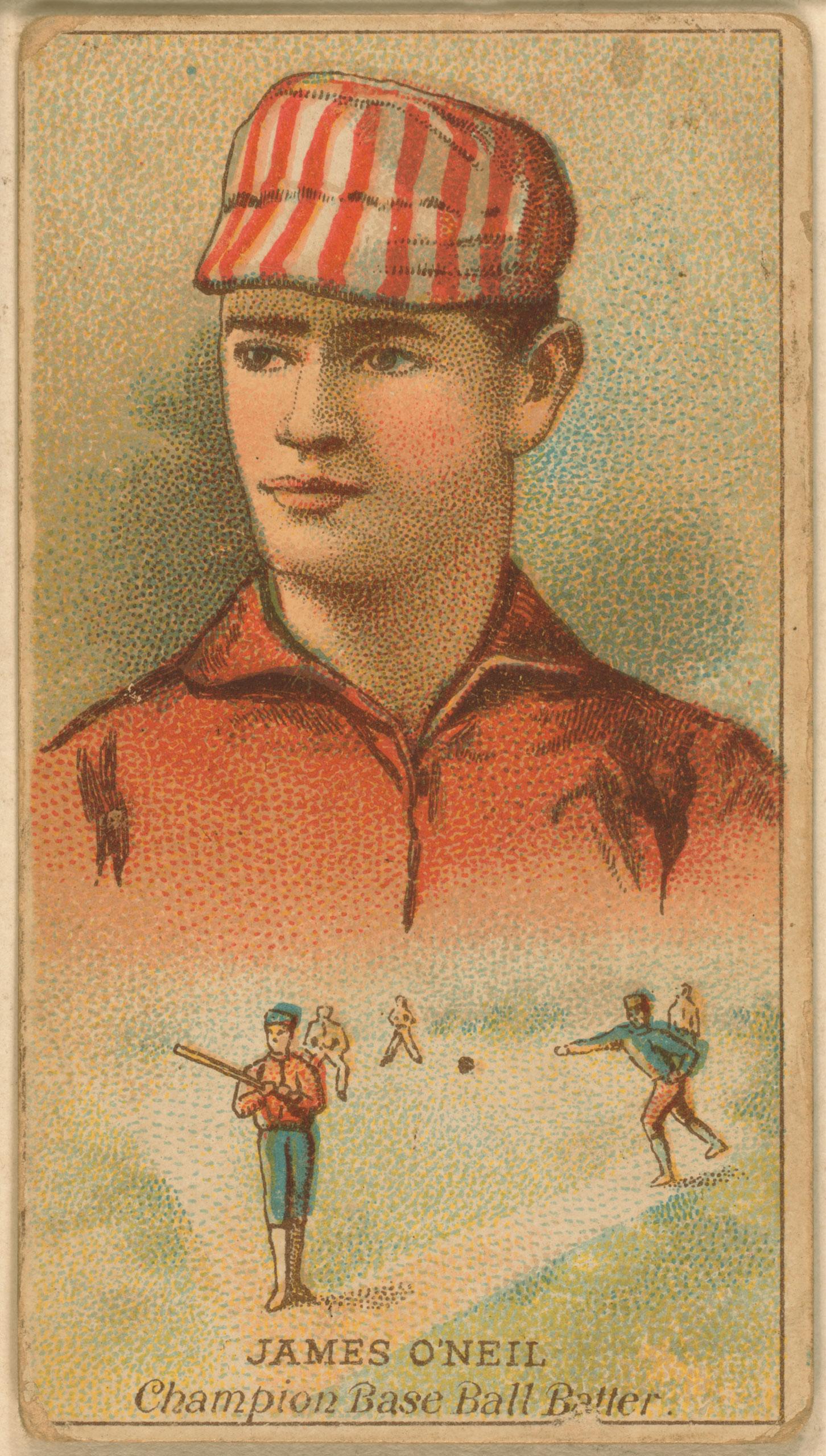 Tip O'Neill, St. Louis Browns, baseball card, 1888.