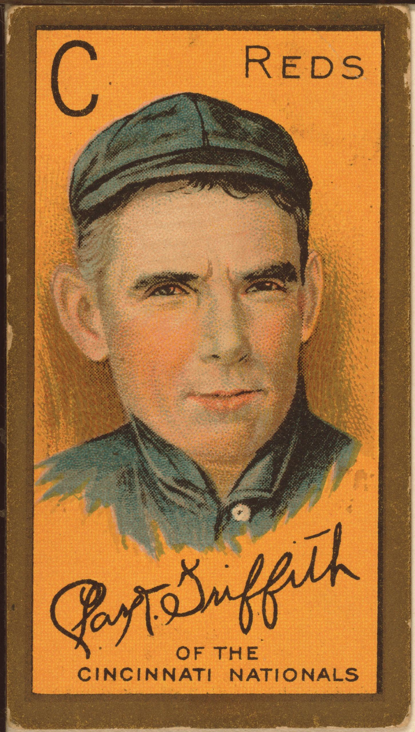 Clark Griffith, Cincinnati Reds, baseball card, 1911.