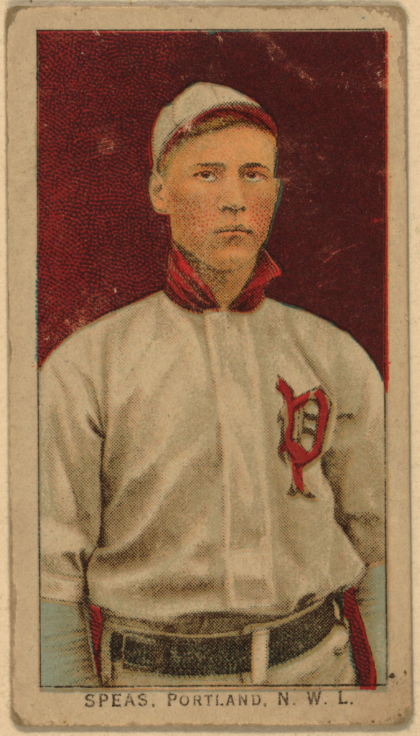Speas, Portland Team, baseball card, 1911.