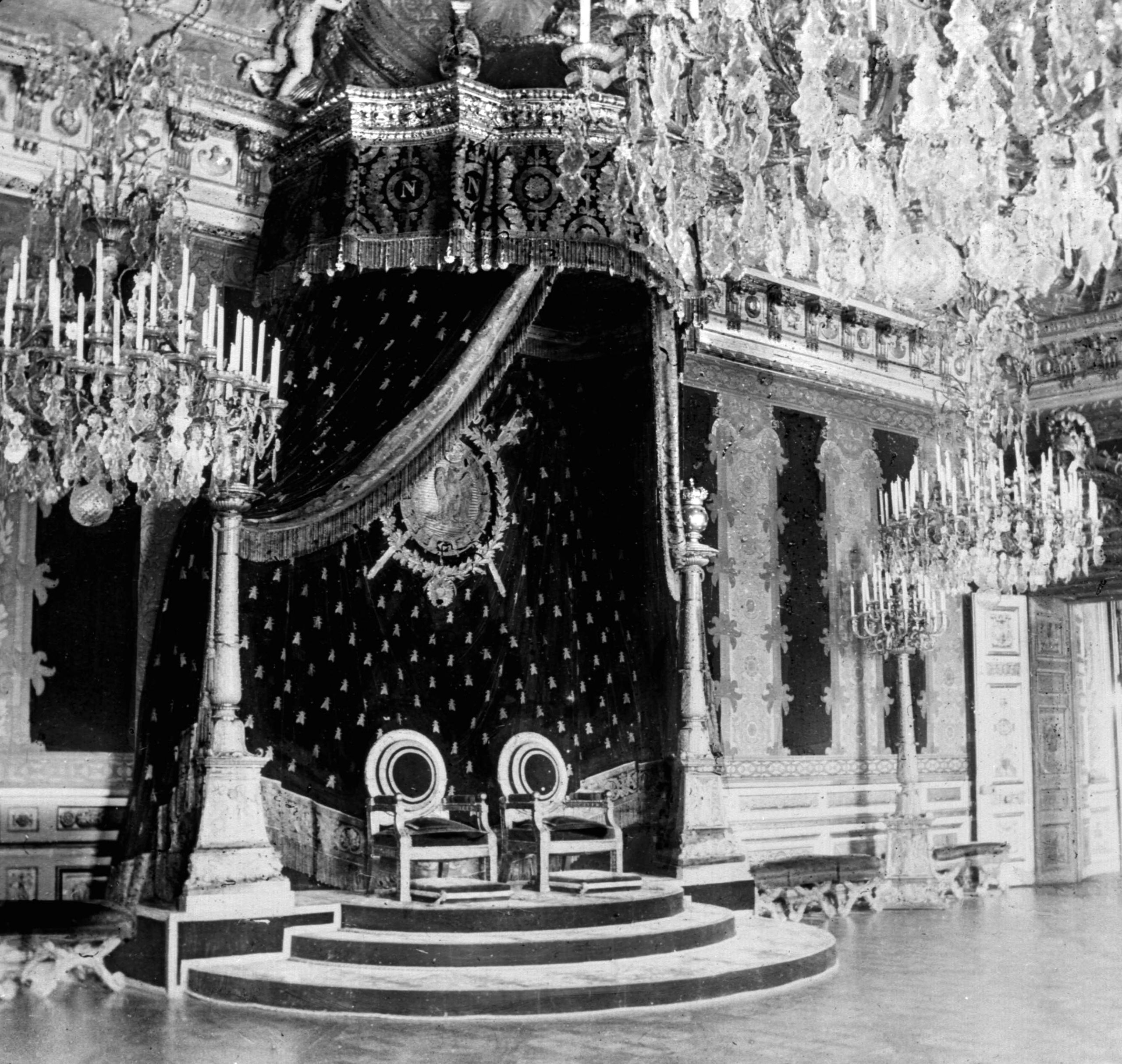 The throne room of the Tuileries Palace. Paris, before 1870.