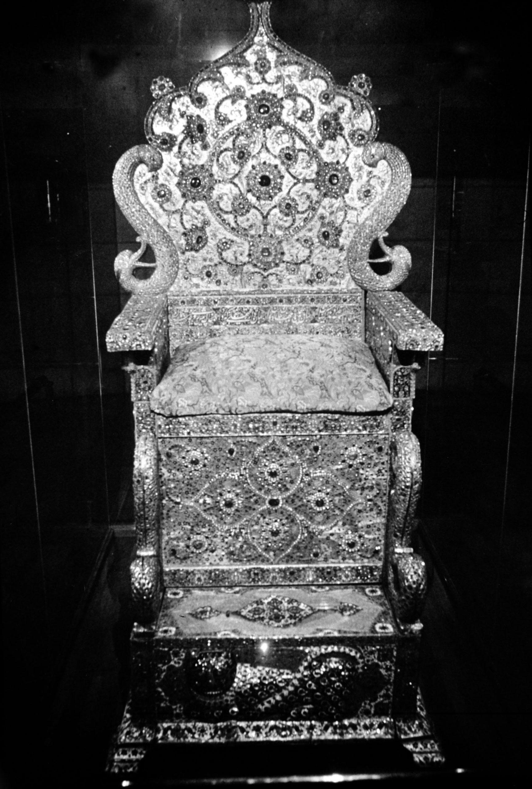 The Nadir Throne in Tehran, circa 1967.