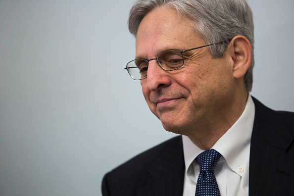 U.S. Supreme Court nominee Merrick Garland looks on during a photo opportunity before a private meeting with Sen. Kirsten Gillibrand (D-NY) in her office on Capitol Hill, March 30, 2016 in Washington, DC. Drew Angerer—Getty Images