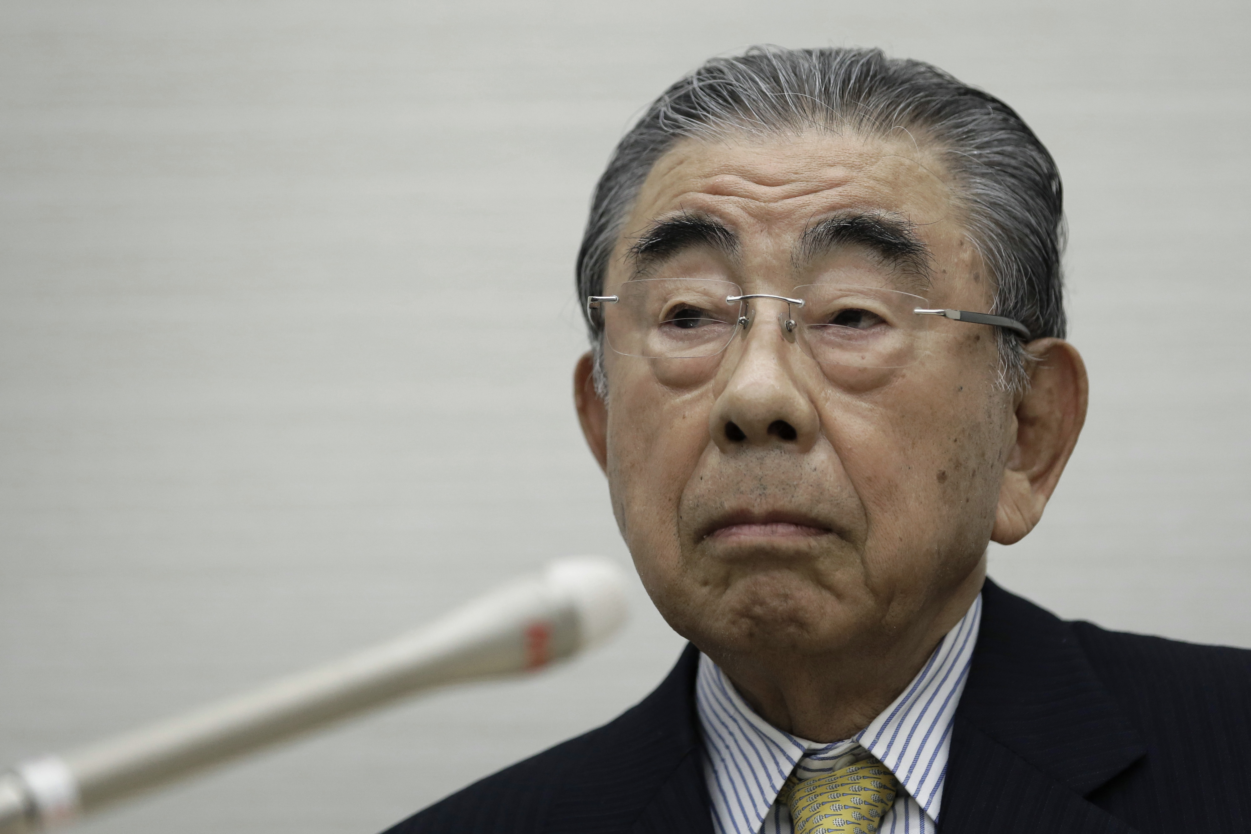 Toshifumi Suzuki, chairman and chief executive officer of Seven & I Holdings Co., pauses during a news conference in Tokyo, Japan, on Thursday, April 7, 2016.