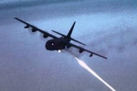 Worked Perfectly: An AC-130 firing its 105mm cannon at night.
