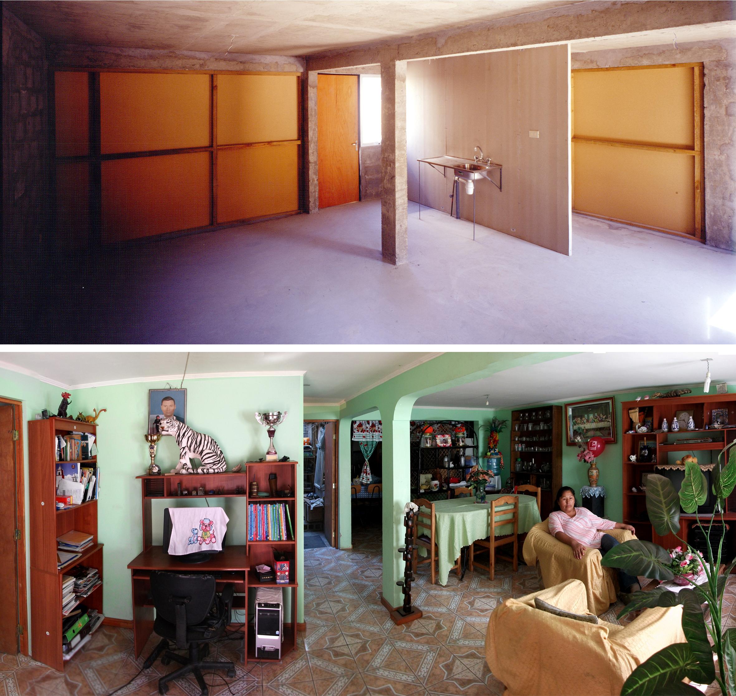 Quinta Monroy Housing, 2004, Iquique, Chile.