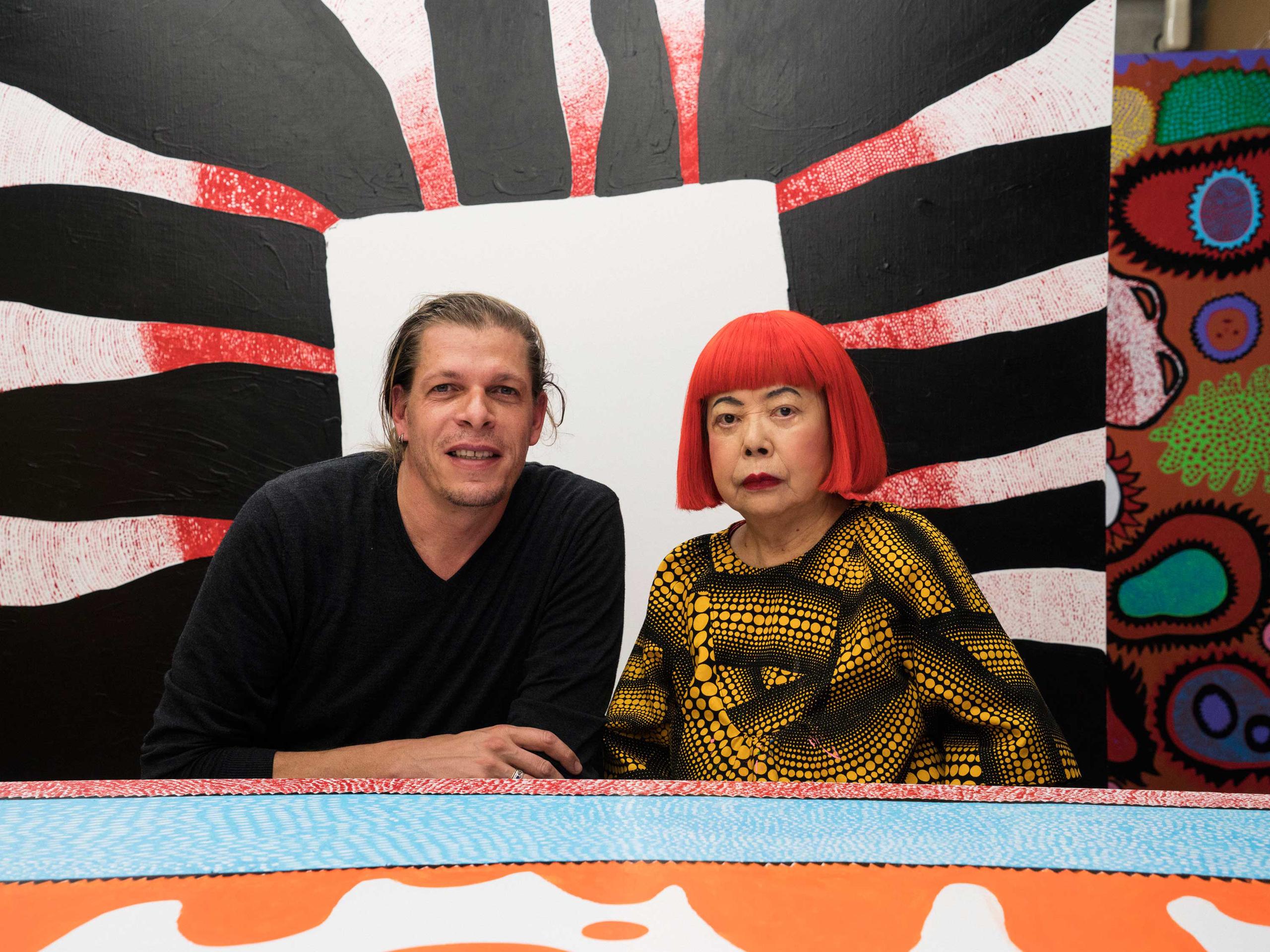 Alex Majoli with Yayoi Kusama at her studio.