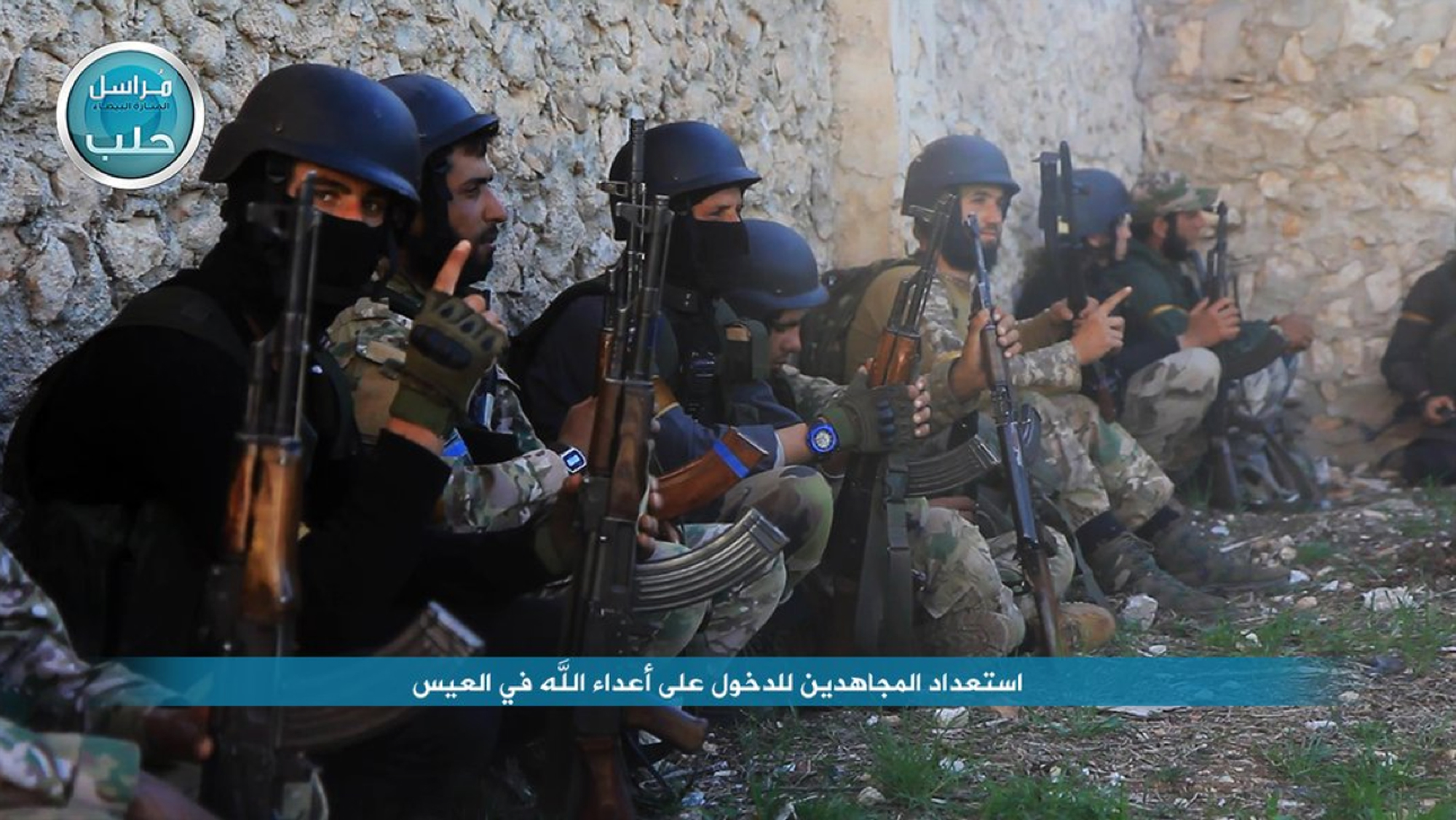 In this image posted on the Twitter page of Syria's al-Qaeda-linked Nusra Front on Friday, April 1, 2016, shows fighters from the Nusra Front.