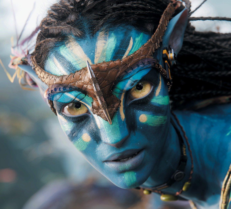 Zoe Saldana as Neytiri in  Avatar.
