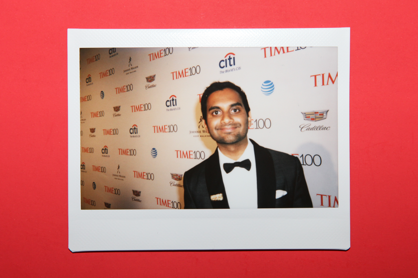 Aziz Ansari arrives at the TIME 100 Gala at the Time Warner Center on April 26, 2016 in New York City.