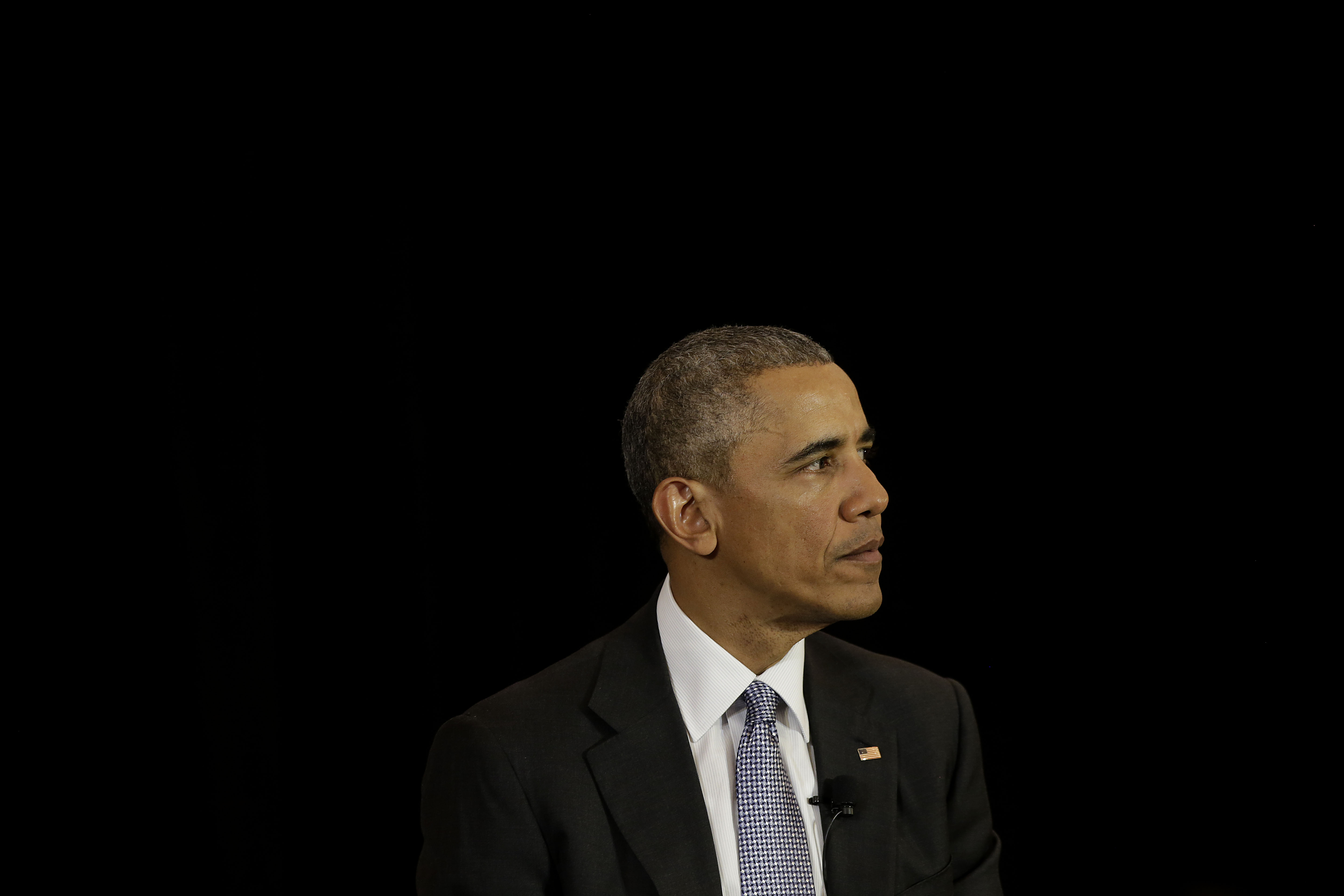 President Barack Obama speaks at the University of Chicago Law School on April 7, in Chicago, Illinois.