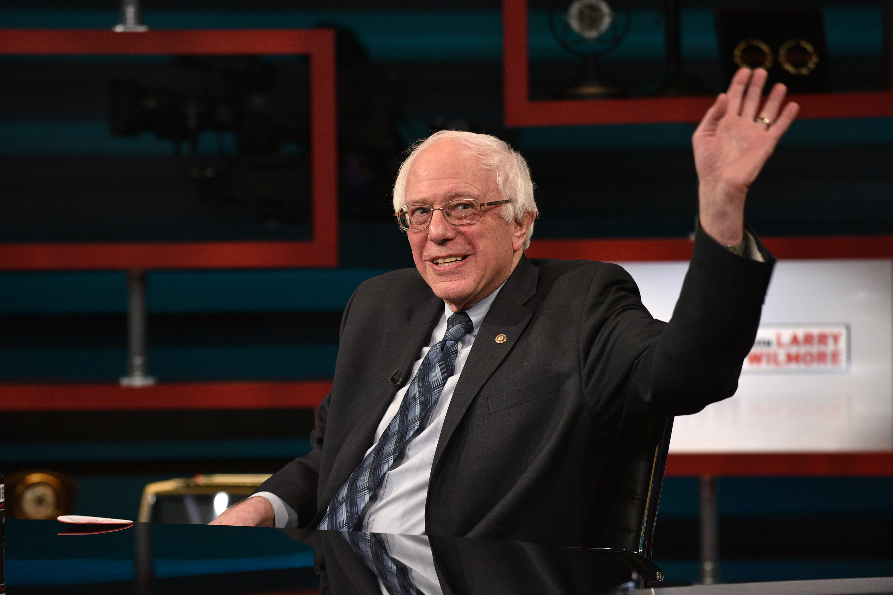 Senator Bernie Sanders on Comedy Central's  The Nightly Show With Larry Wilmore  on Jan. 5, 2016 in New York City.