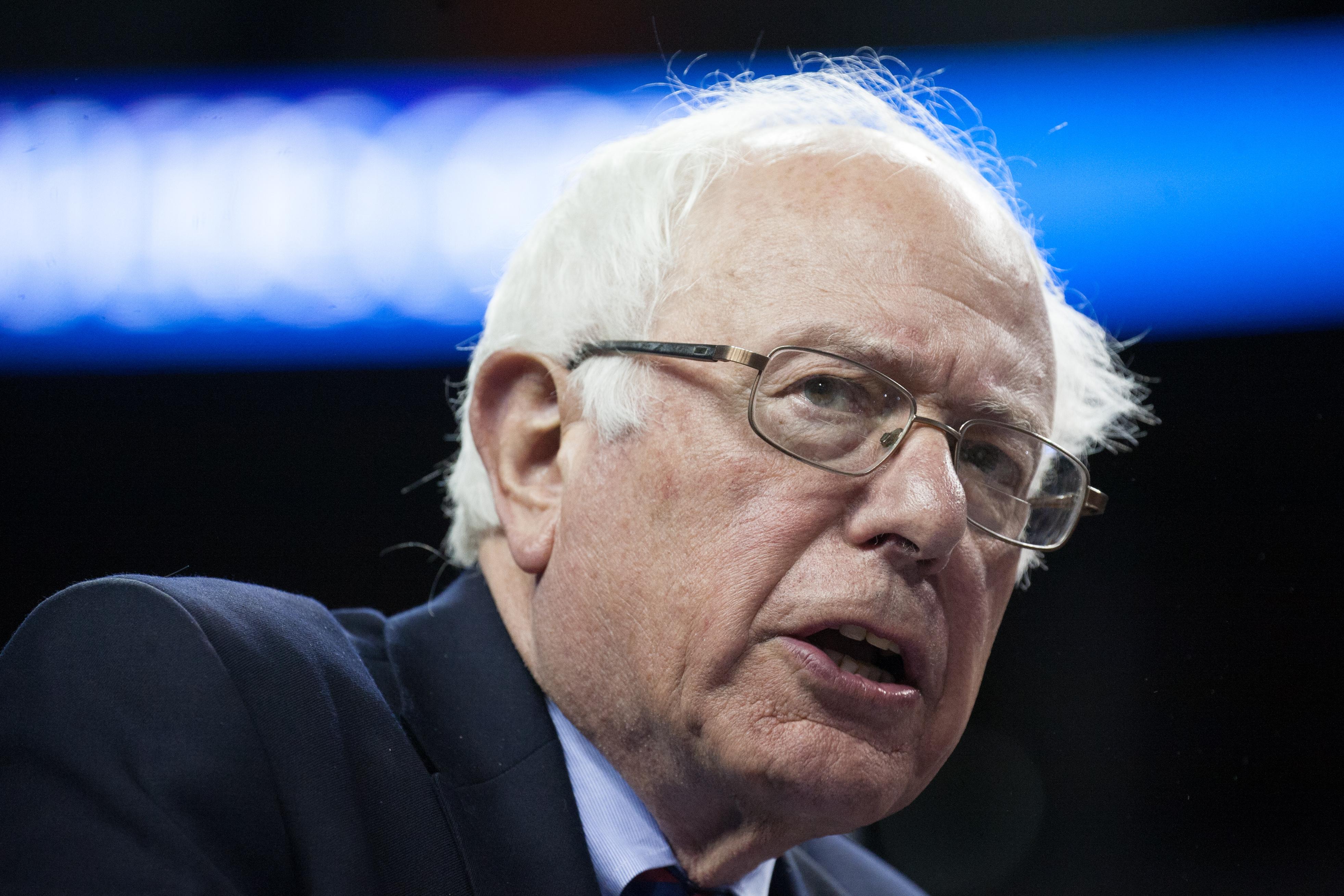 Bernie Sanders speaks to supporters on March 20, 2016 in Seattle, Washington.