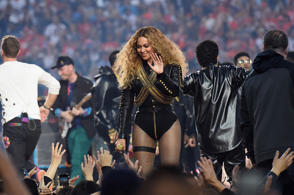 Beyoncé performs onstage during the Pepsi Super Bowl 50 Halftime Show at Levi's Stadium on February 7, 2016 in Santa Clara, California.