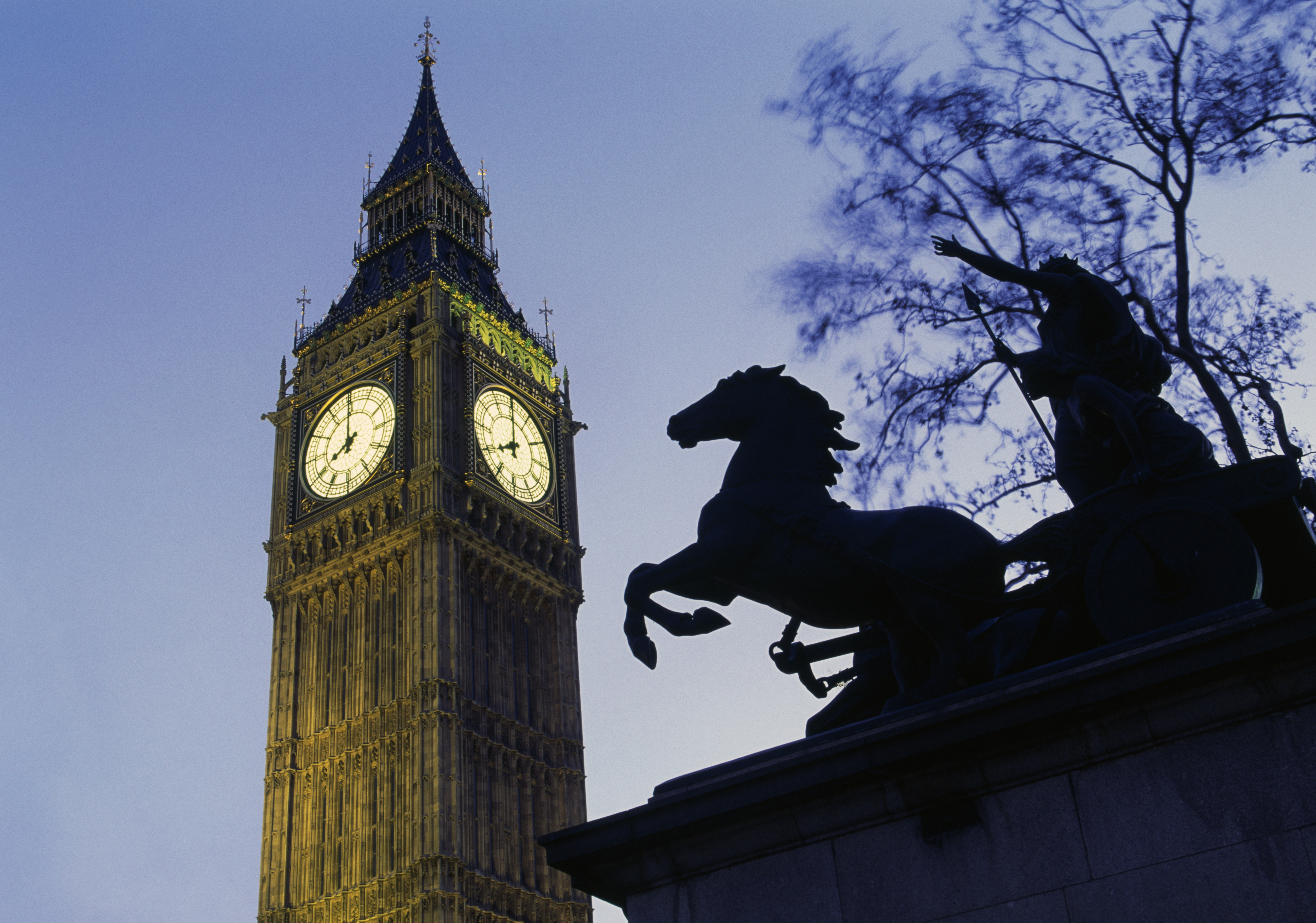 View of Big Ben in London, England
