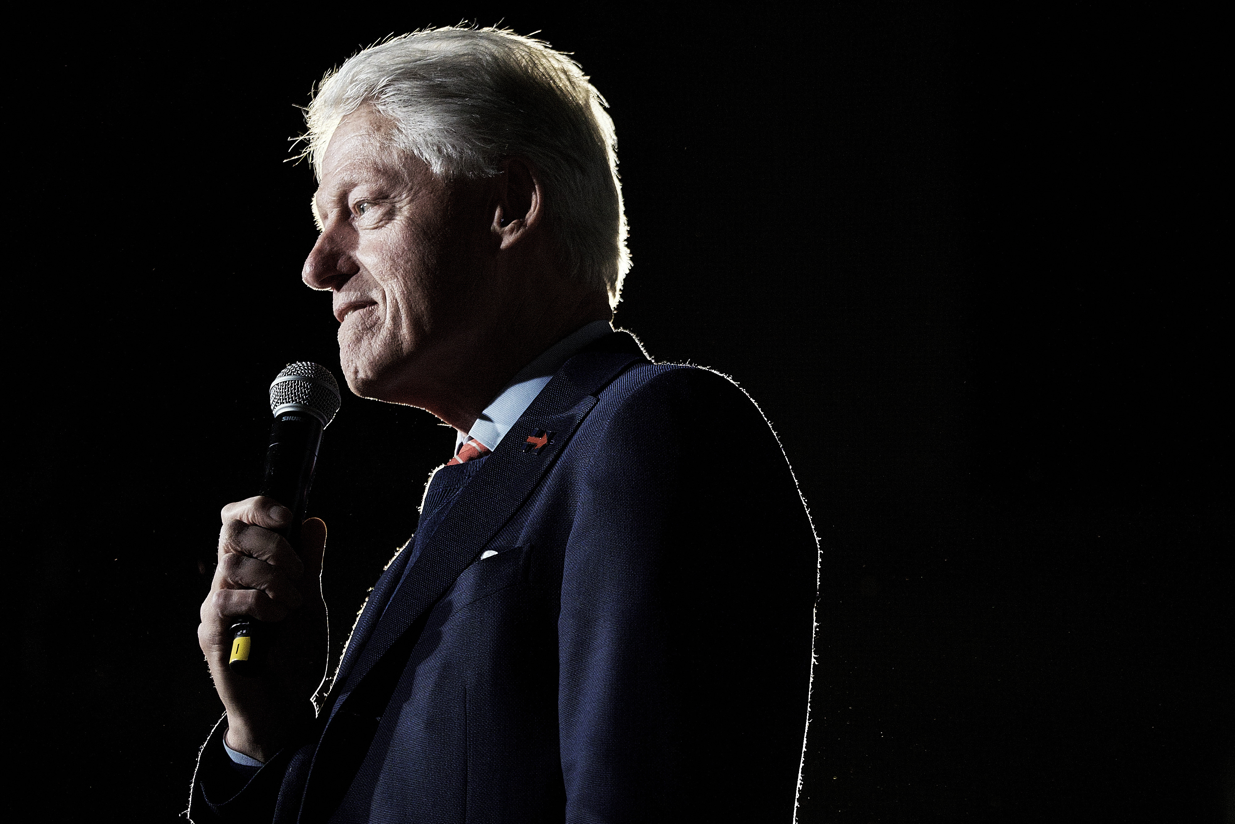 Bill Clinton, former U.S. President and husband of former U.S. Secretary of State and 2016 Democratic presidential candidate Hillary Clinton, speaks to the crowd, during a town hall event at the Columbia Museum of Art Boyd Plaza in Columbia, S.C., on Feb. 26, 2017.