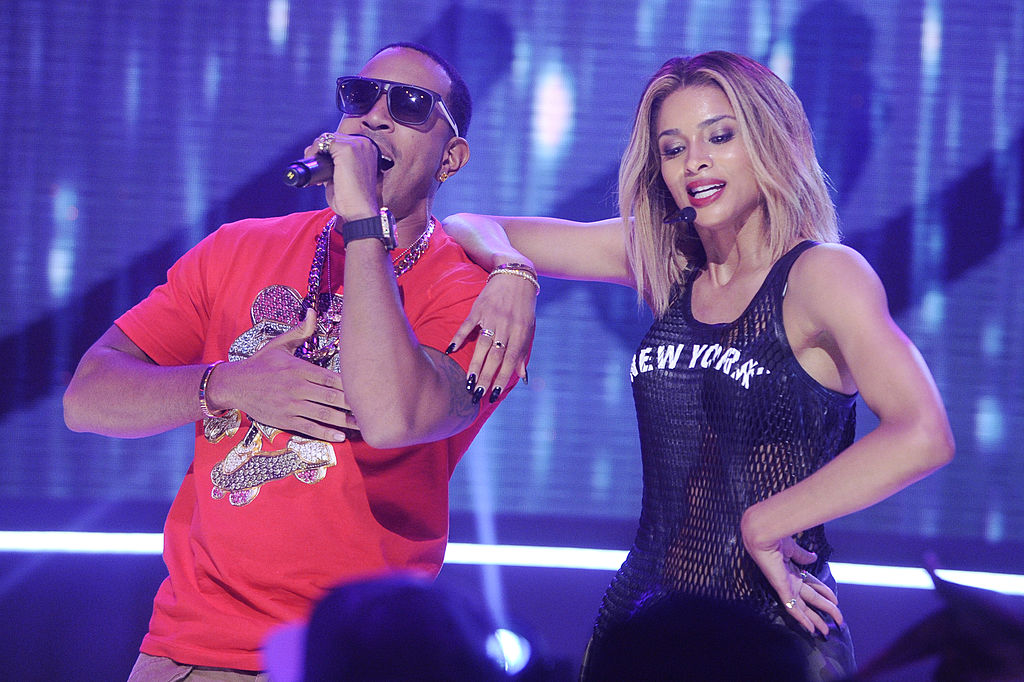 Ciara and Ludacris visit BET's 106 & Park at BET Studios on July 10, 2013 in New York City.