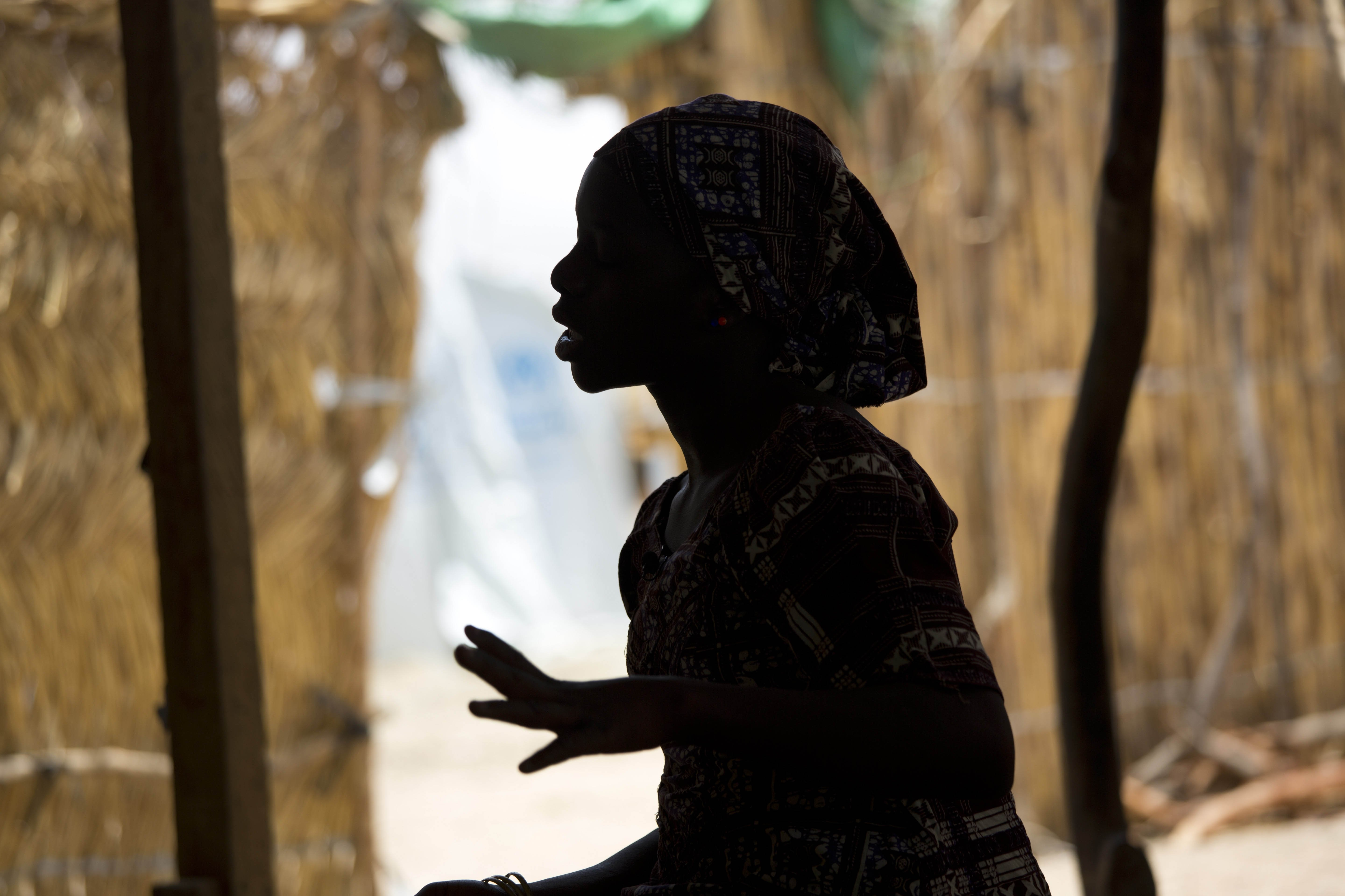 A fifteen-year-old Nigerian refugee at the Minawao camp in Northern Cameroon, on April 5, 2016.
