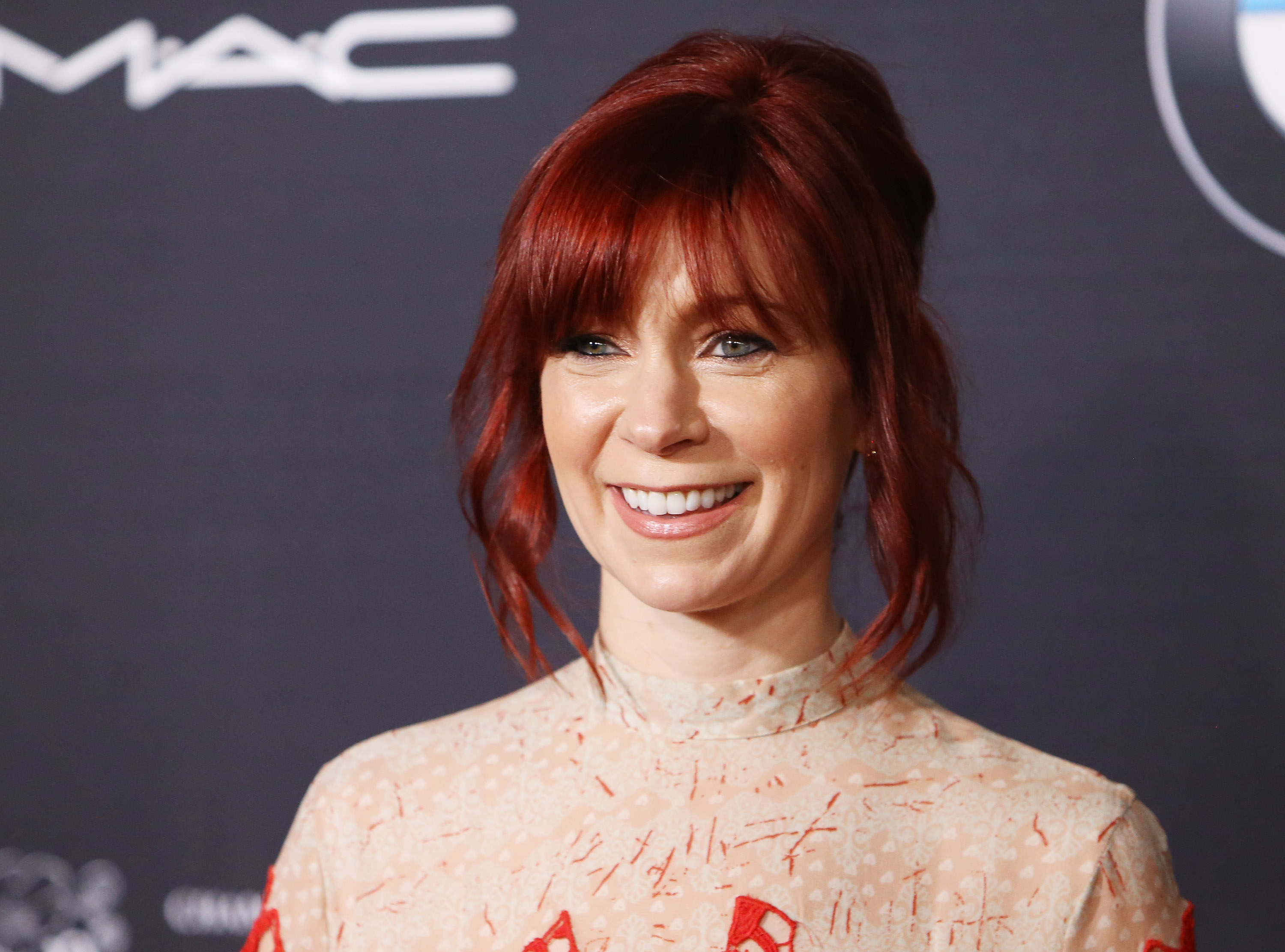Carrie Preston arrives at the Ninth Annual Women In Film pre-Oscar Cocktail Party held at HYDE Sunset: Kitchen + Cocktails on February 26, 2016 in West Hollywood, California.