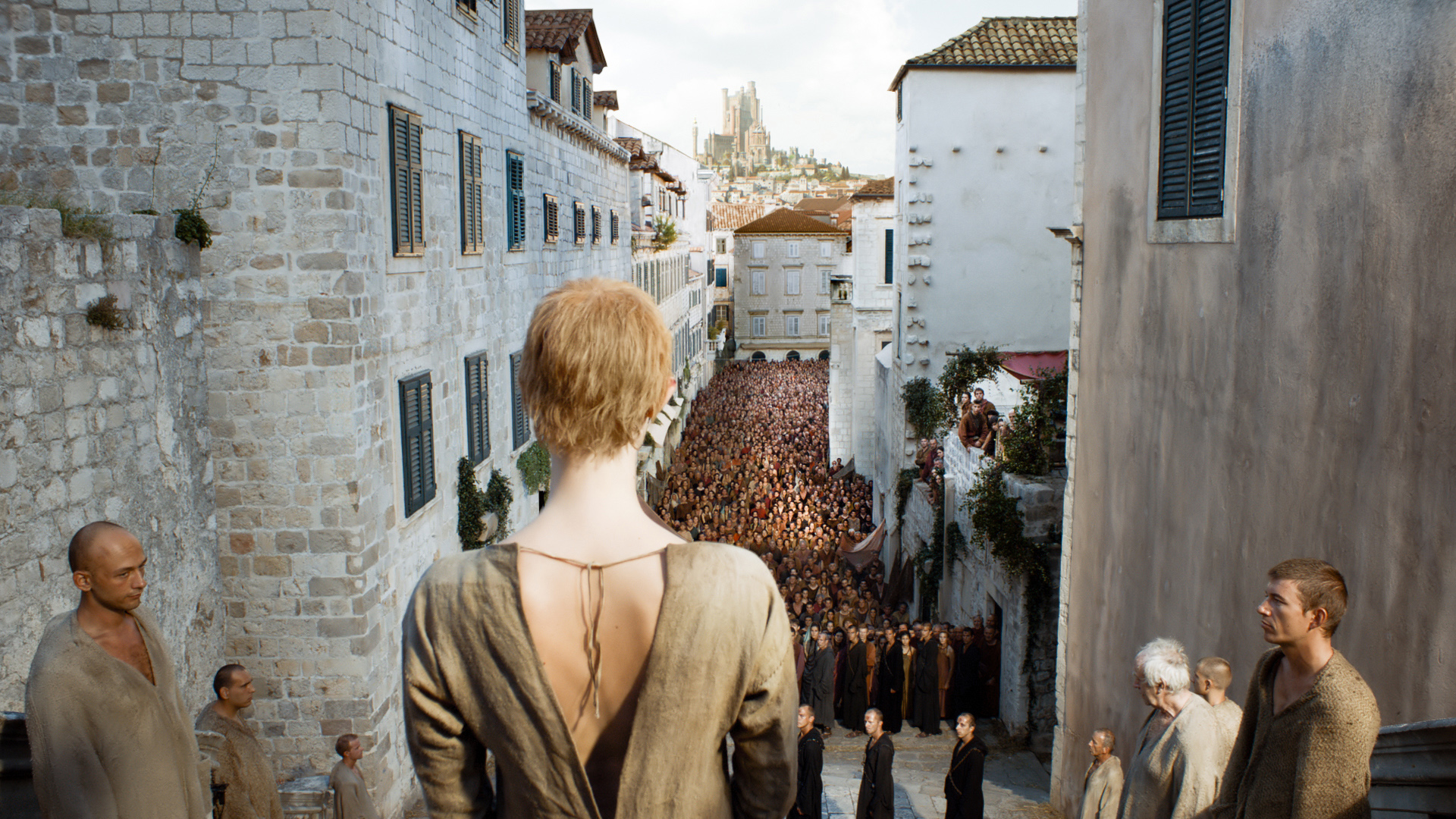 Lena Headey as Cersei in Game of Thrones, Season 5, Ep. 10.