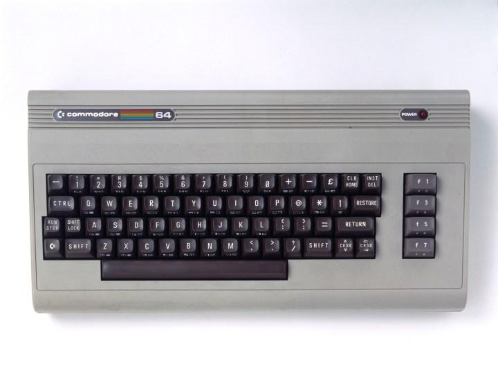 Commodore 64 microcomputer, c 1985.