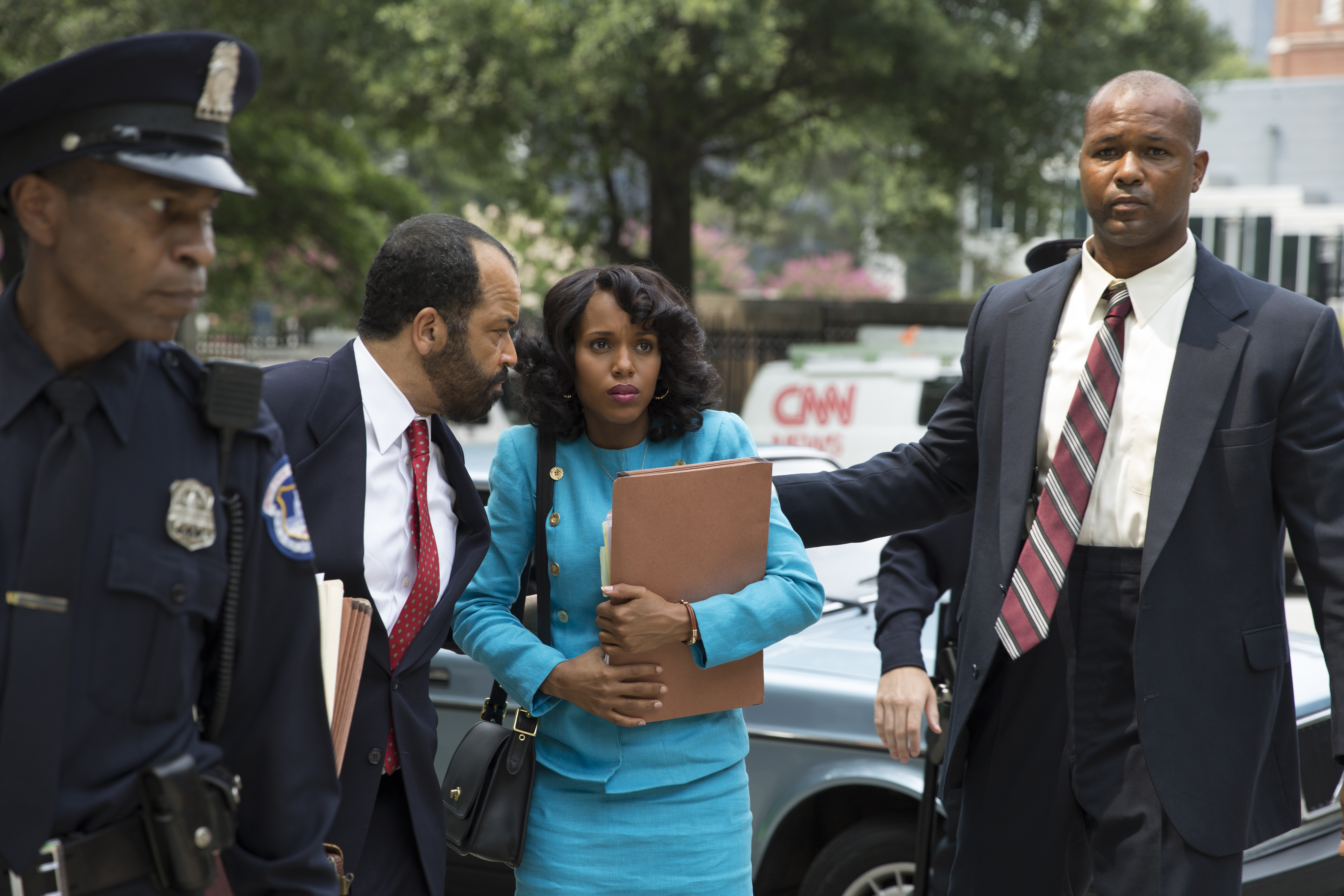 Jeffrey Wright and Kerry Washington perform in the HBO film Confirmation.