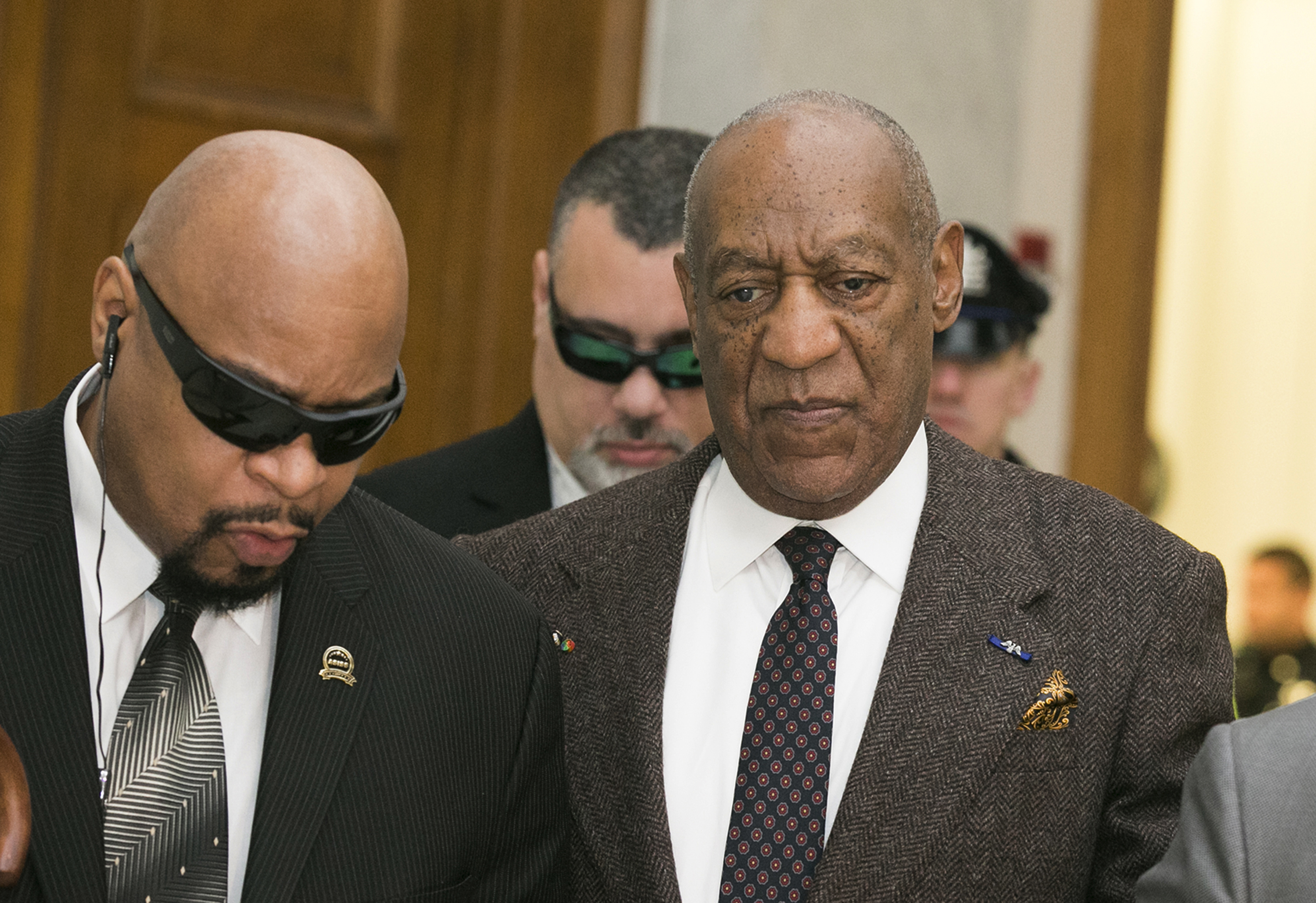 Bill Cosby arrives for the second day of hearings at the Montgomery County Courthouse in Norristown, Penn., on Feb. 3, 2016.