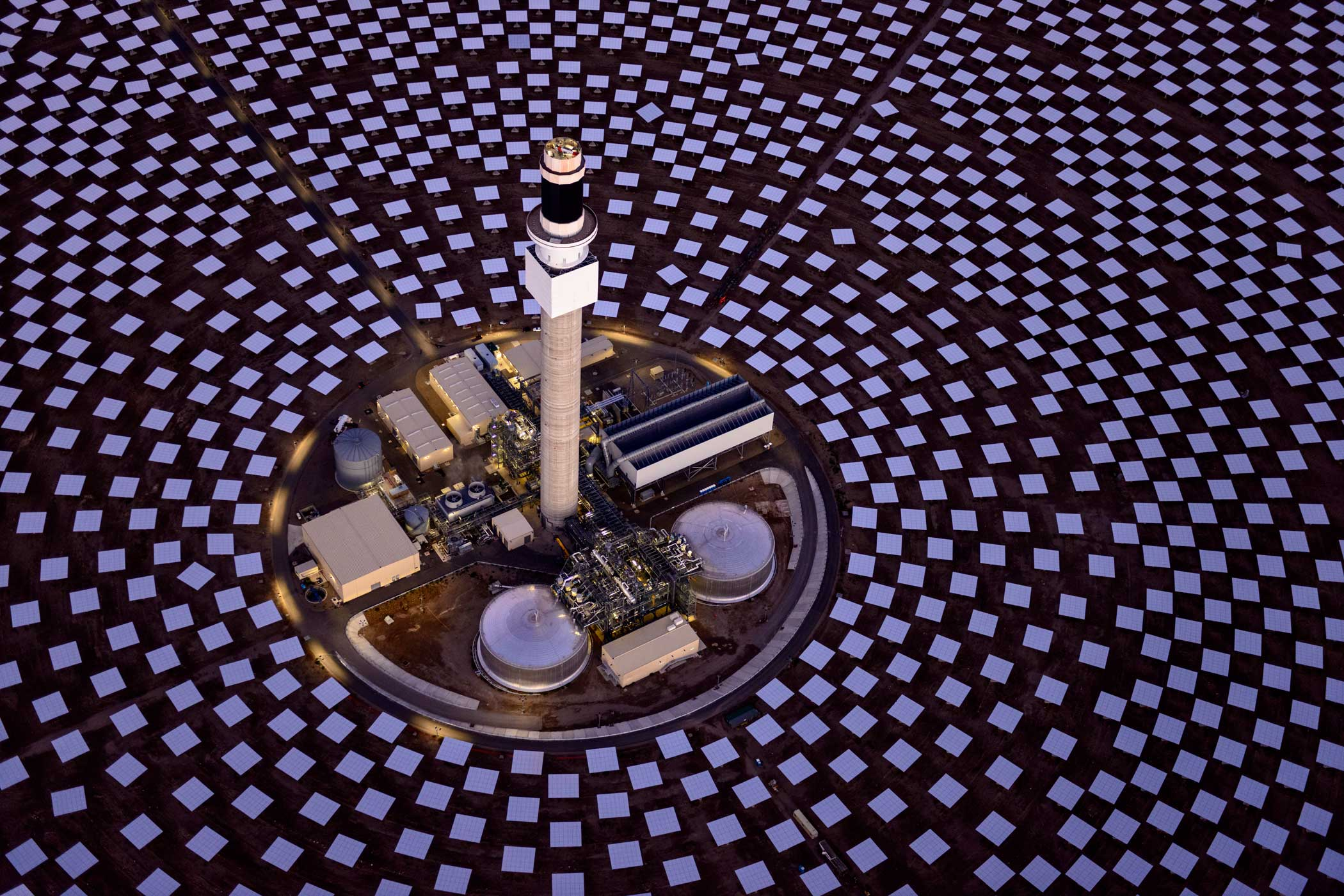 The facility is the first large-scale concentrated solar plant in the U.S.