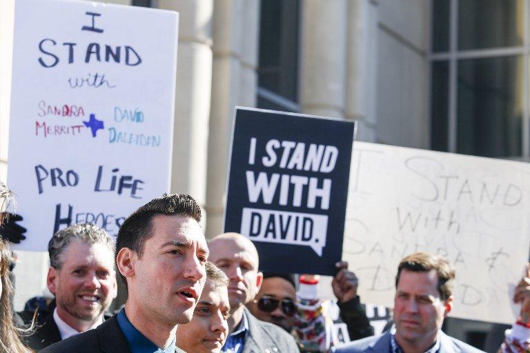 David Daleiden speaks to the media in Houston, TX, on Feb. 4, 2016.