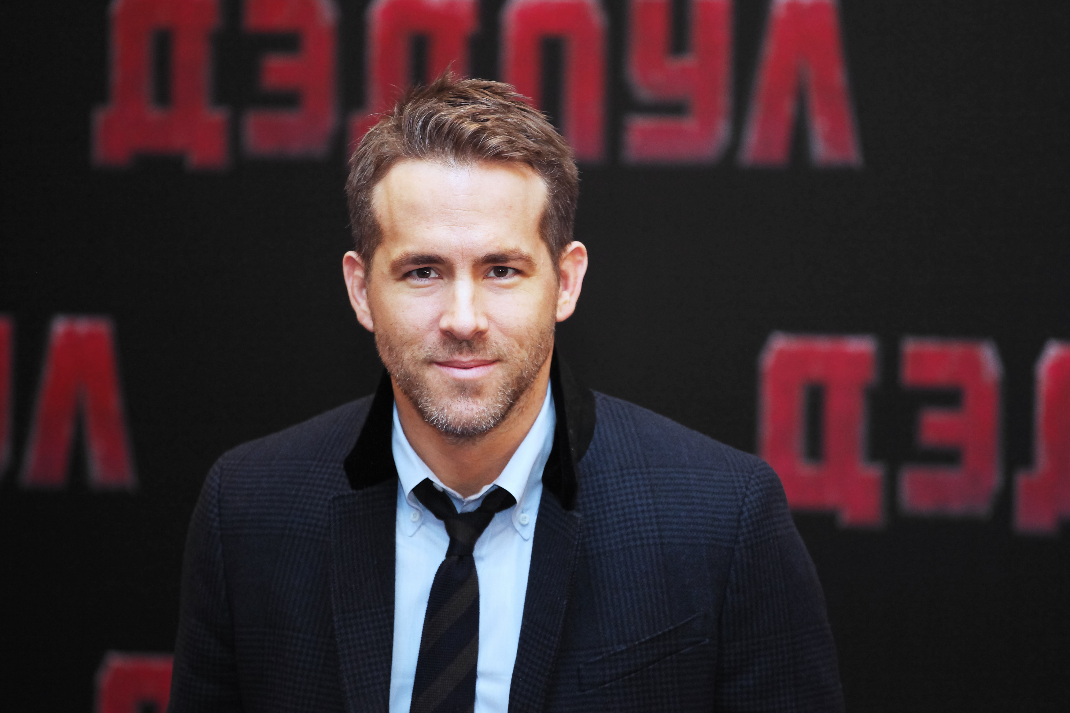 Ryan Reynolds attends a photocall for 'Deadpool' at the Ritz Carlton Hotel on January 25, 2016 in Moscow, Russia.