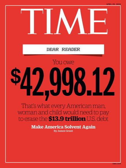 Debt Cover Time Magazine Cover
