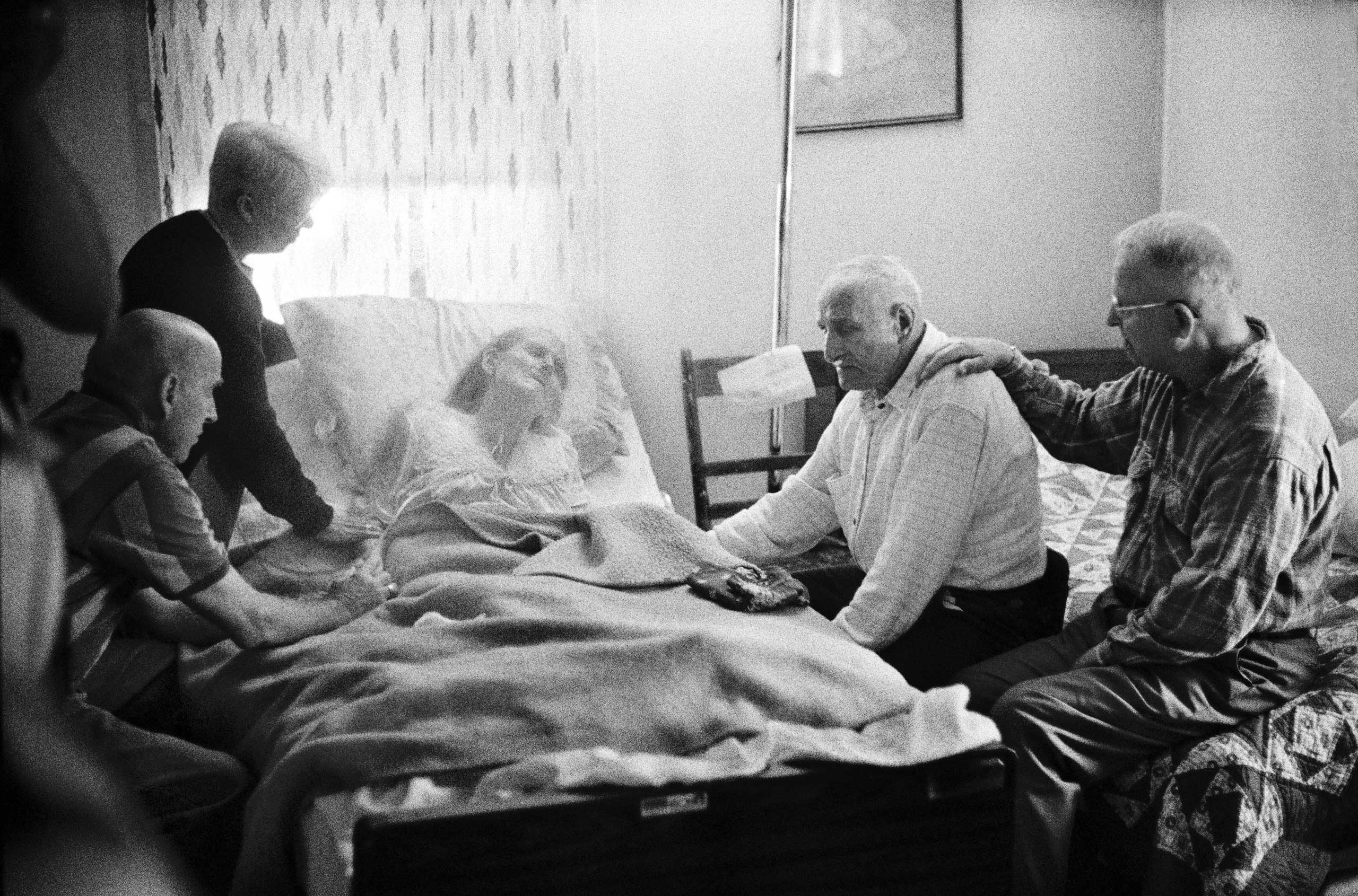 From the series Aging in America                       Maxine Peters passes away at home, surrounded by her family, friends and hospice aides.