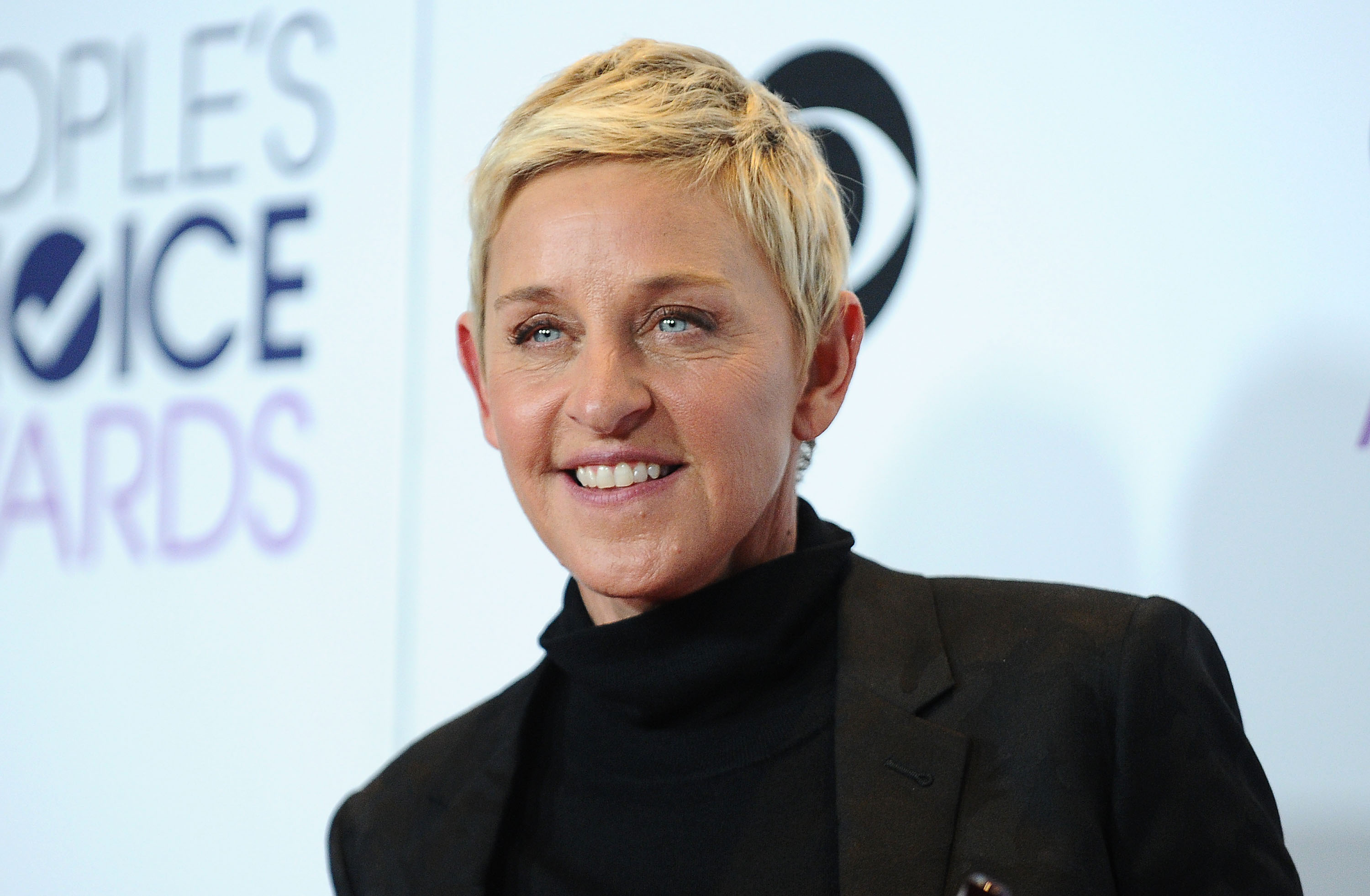 Ellen DeGeneres poses on the press room at the 2016 People's Choice Awards on January 6. in Los Angeles, Calif.