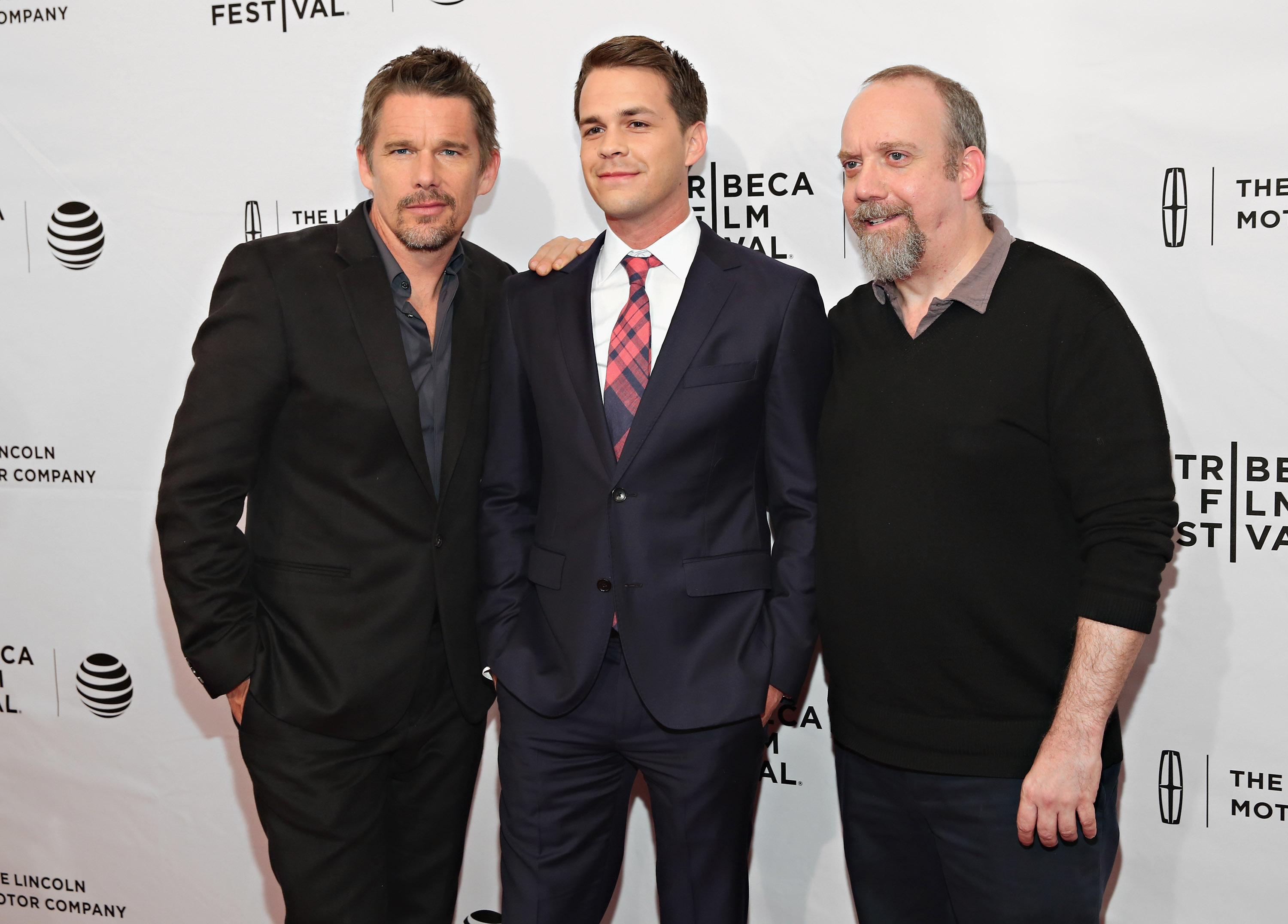 Ethan Hawke, Johnny Simmons and Paul Giamatti attend  The Phenom  Premiere during the 2016 Tribeca Film Festival on April 17, 2016 in New York City.