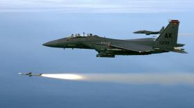 Worked Perfectly: An F-15 fires an air-to-air missile.